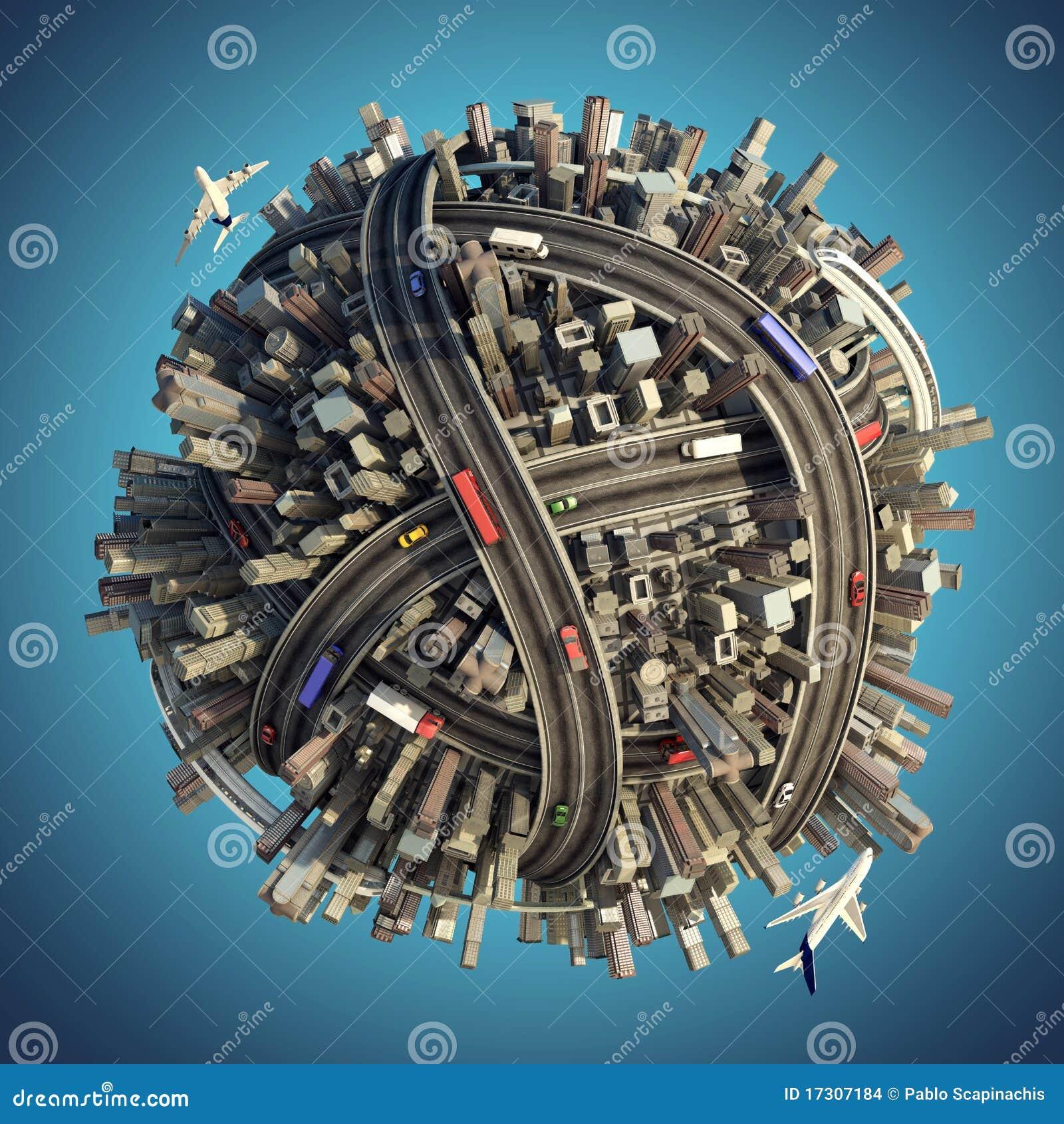 都市混乱微型的行星