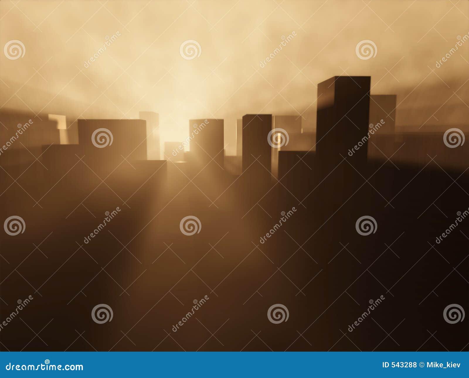 Download 都市的日出 库存照片. 图片 包括有 展望期, 全景, 商业, 概念, 抽象, 潜在客户, 房子, 有雾, 天堂 - 543288