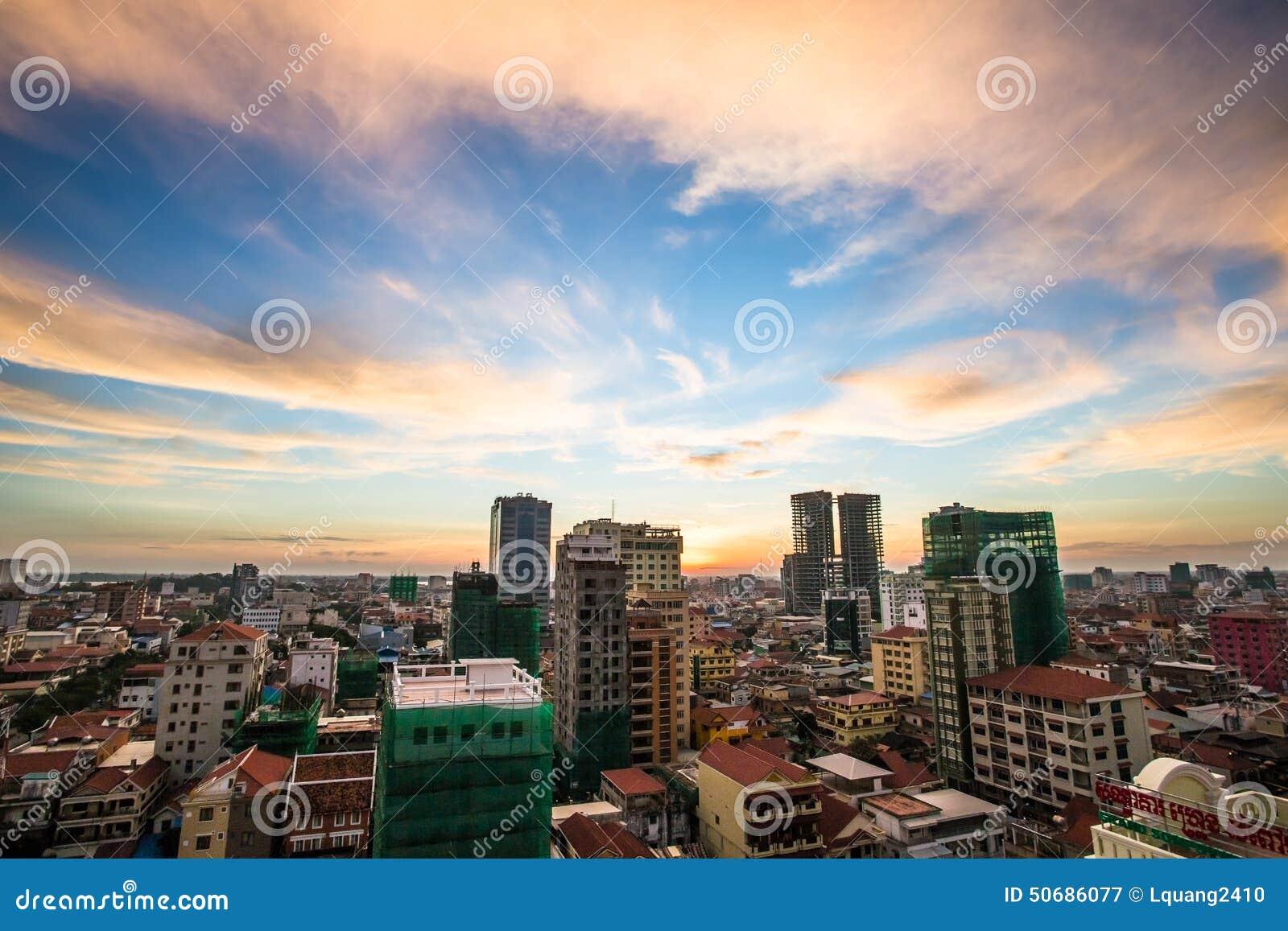 Download 都市风景在金边市 库存图片. 图片 包括有 柬埔寨, 日落, 早晨, 城市, 旅行, 遗产, 资本, 高棉 - 50686077
