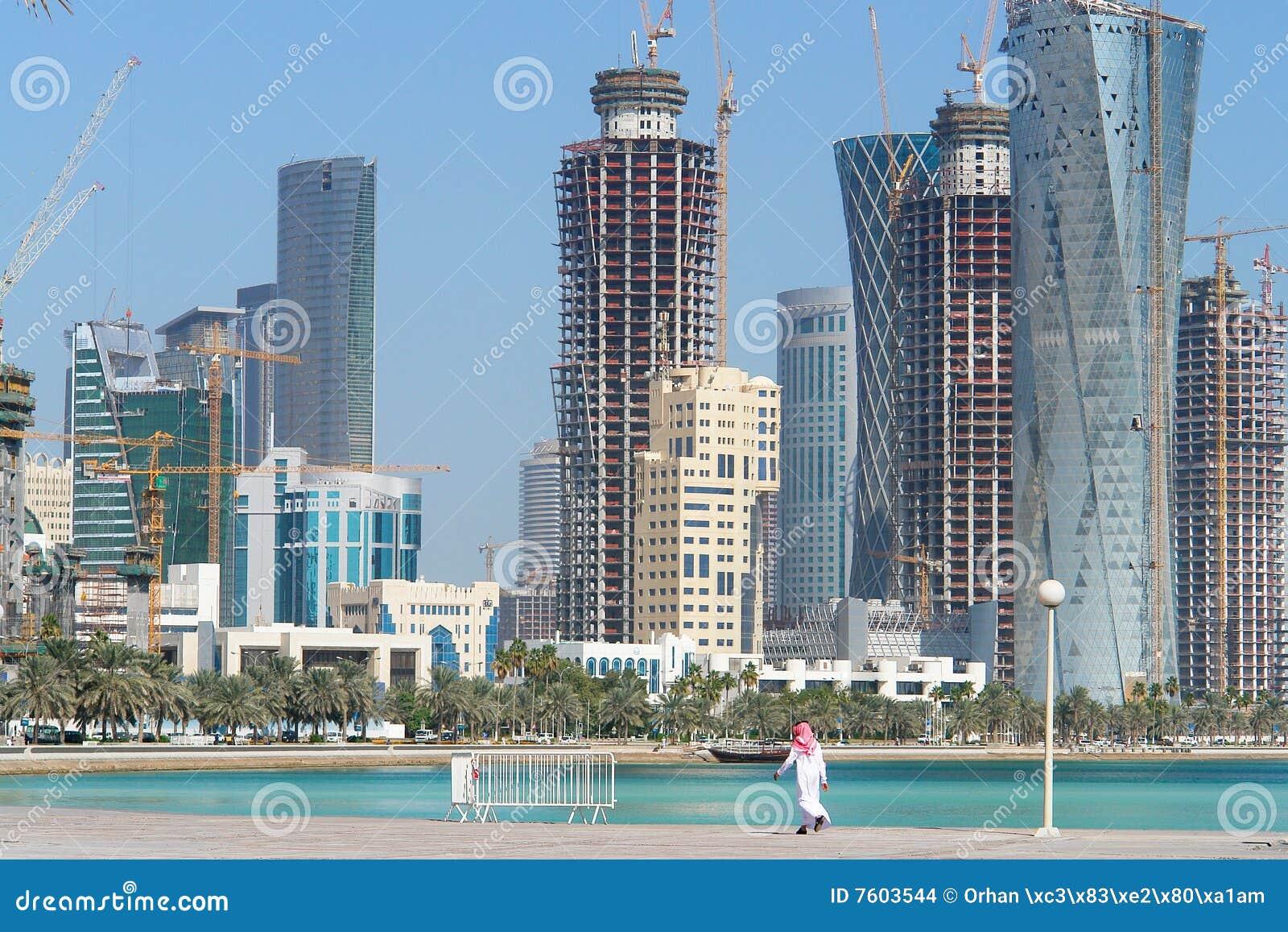 都市风景多哈卡塔尔