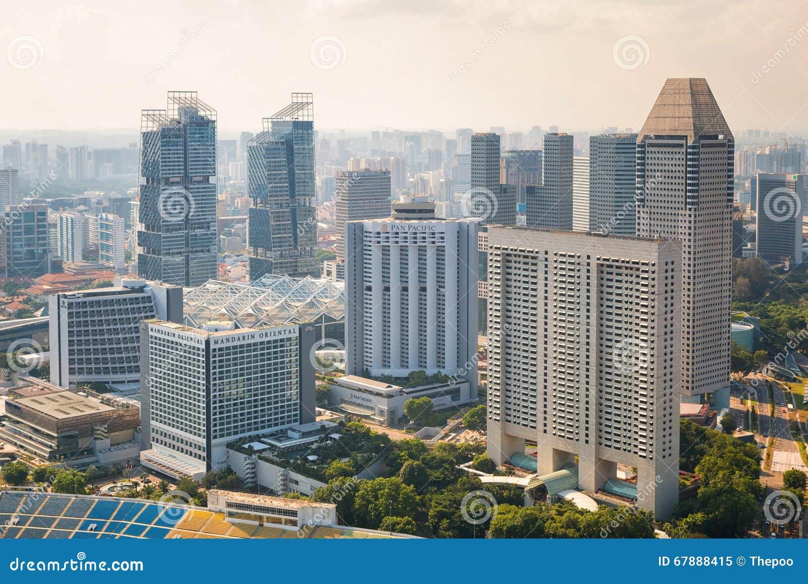 都市风景新加坡 鸟瞰图