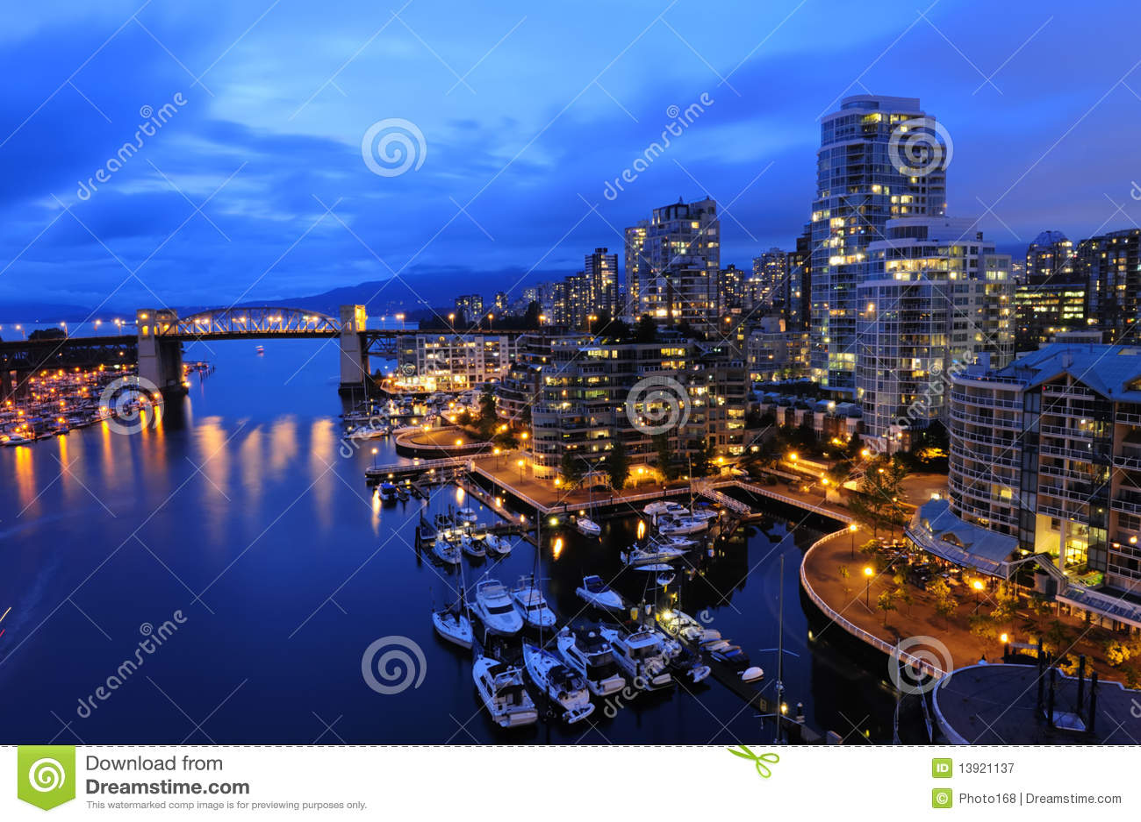 都市风景晚上温哥华