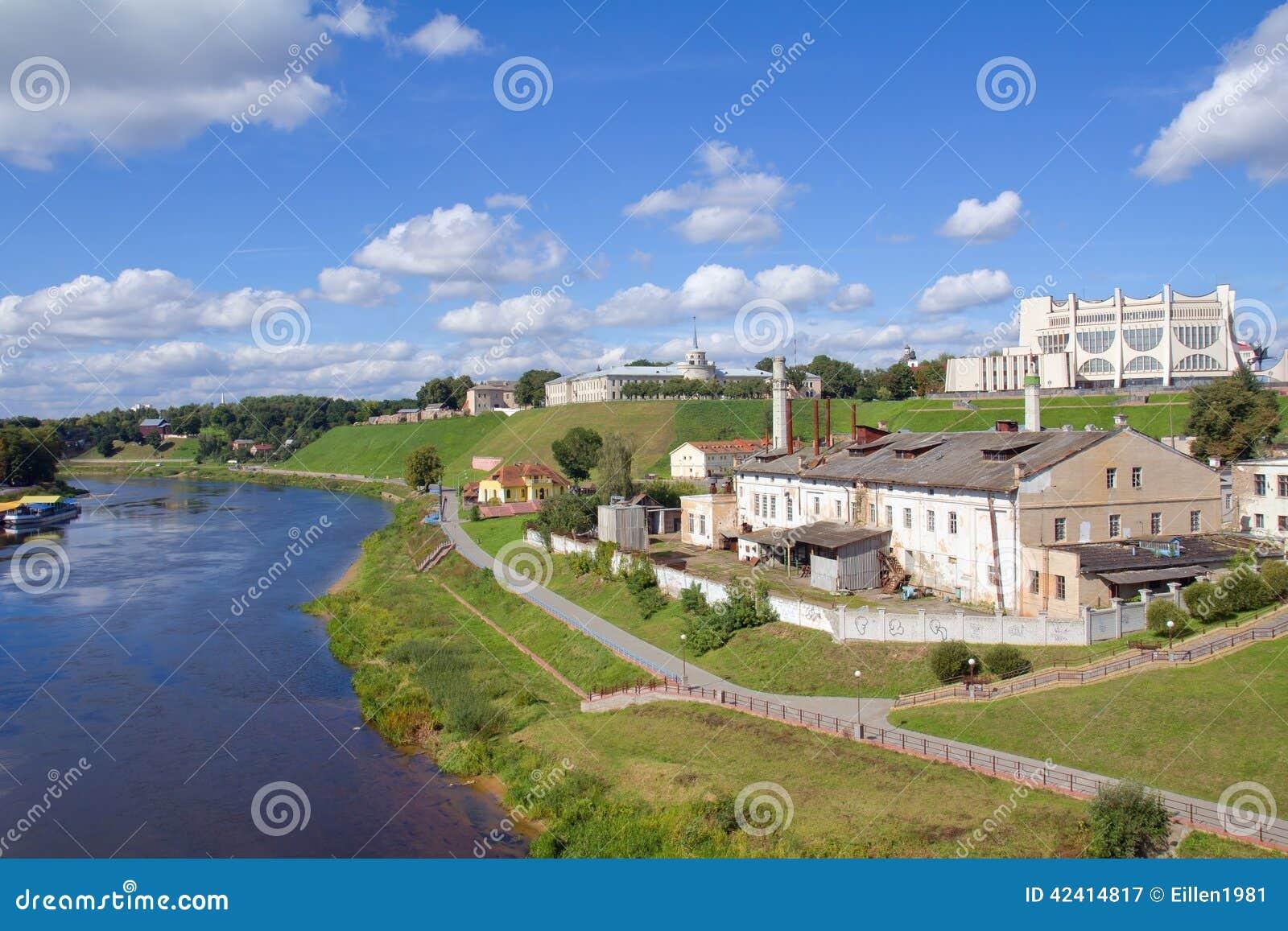 都市风景视图在哥罗德诺,白俄罗斯