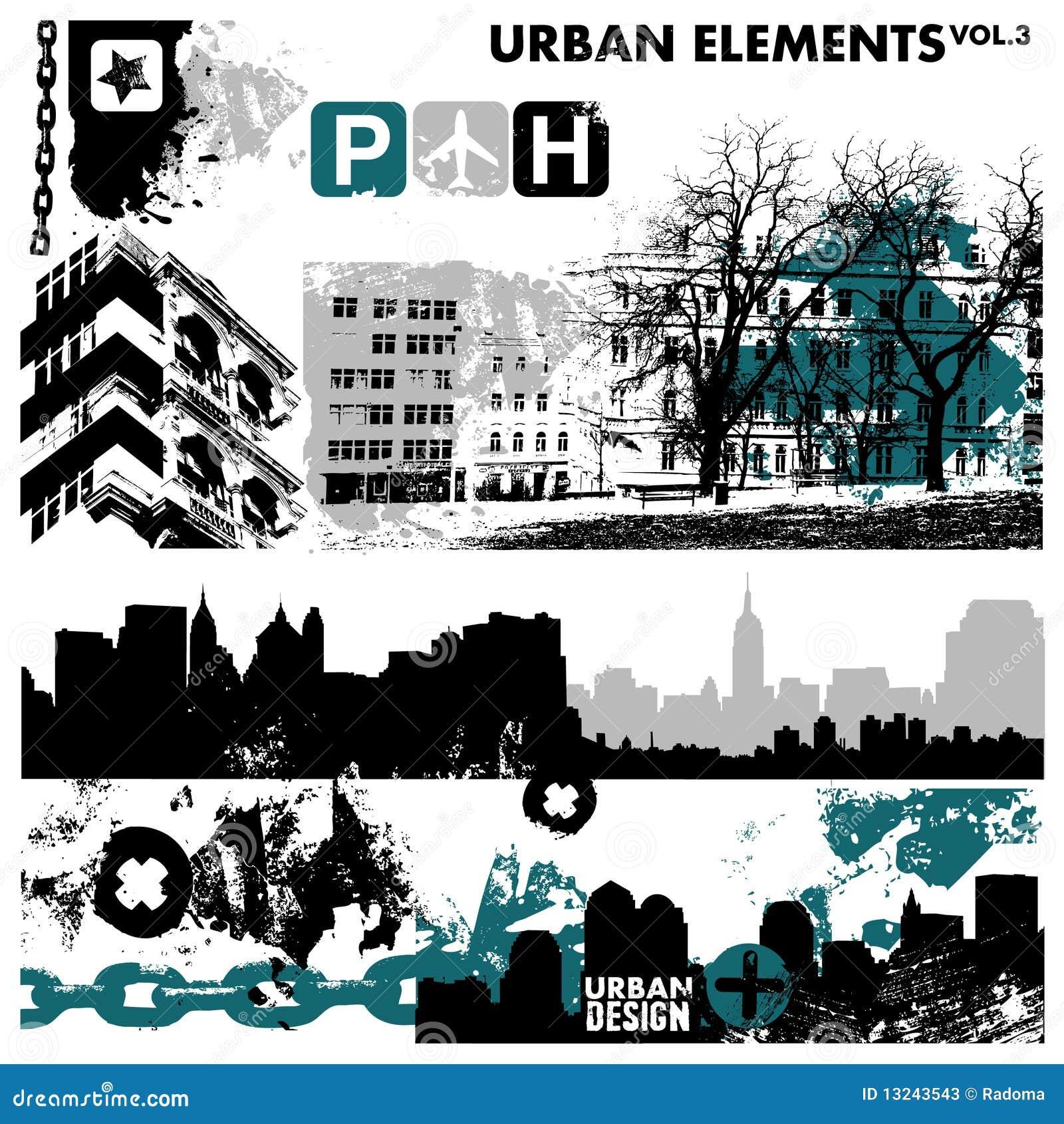 都市3个要素的图象