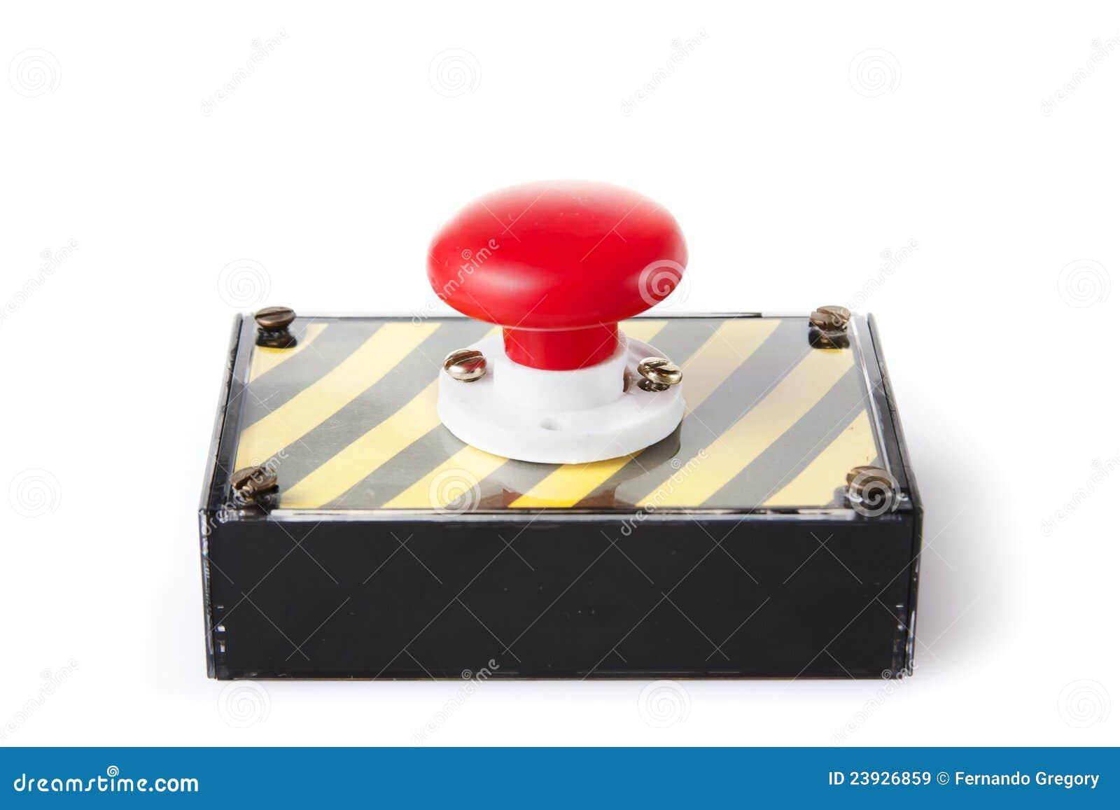 配件箱按钮查出的紧急白色