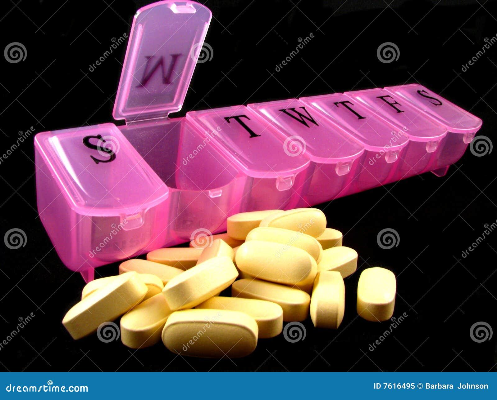 配件箱药片粉红色