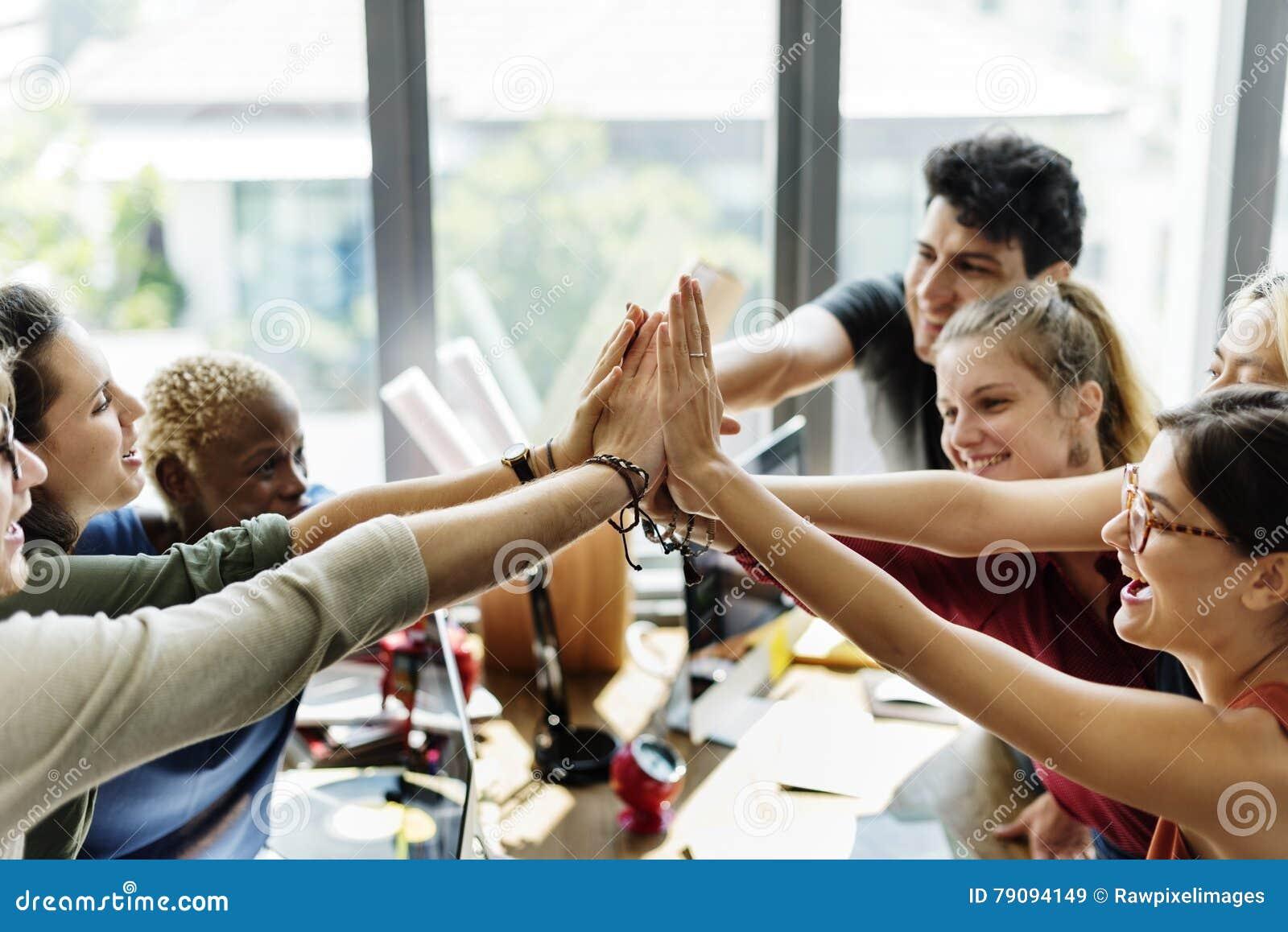 配合力量成功的会议工作场所概念