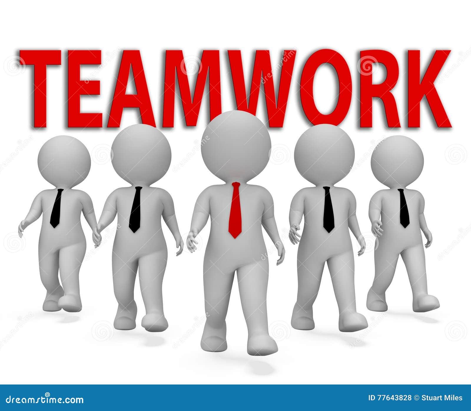 配合商人一起表明小组和组织的3d翻译