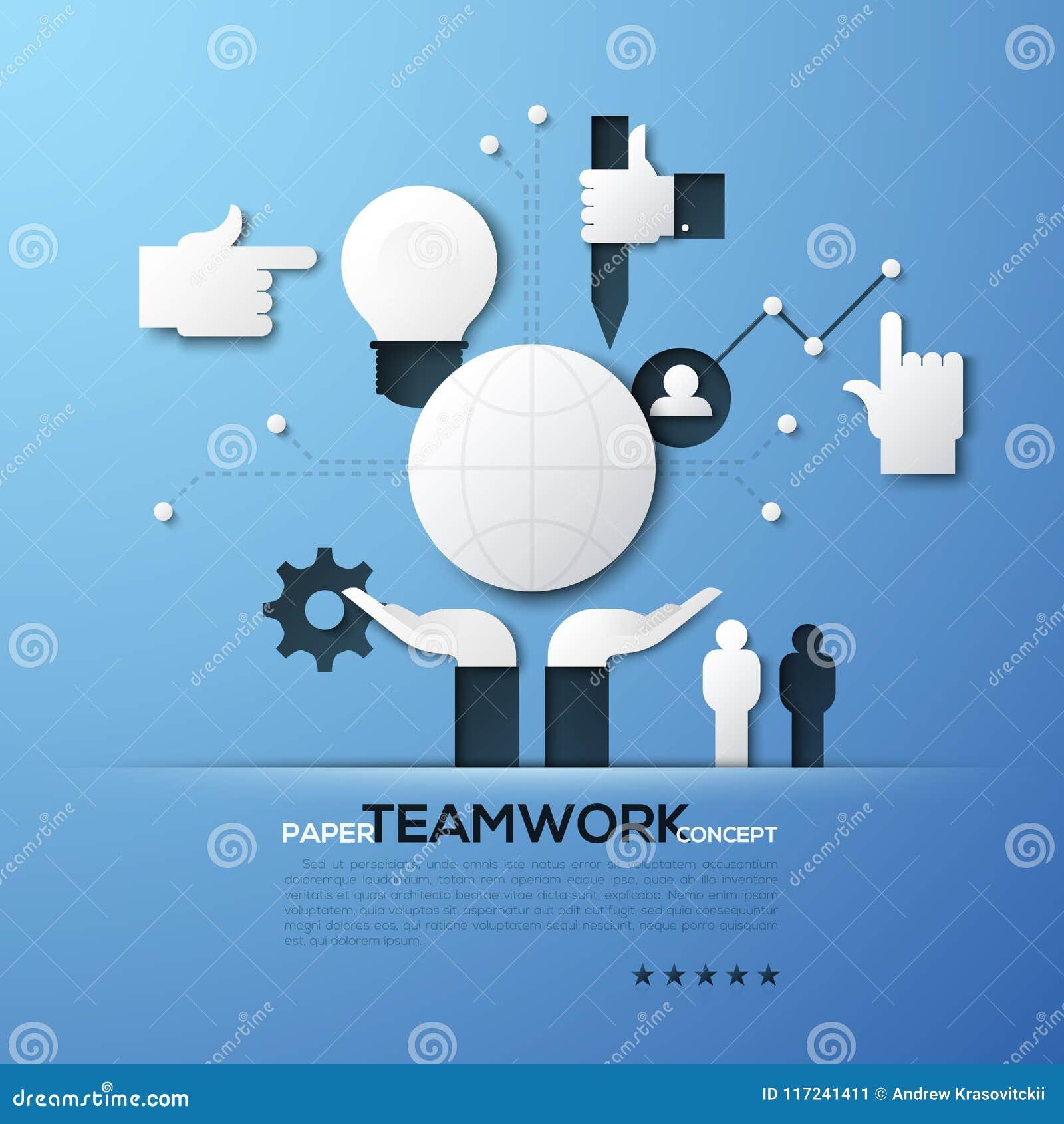 配合,对组织工作,全球性网络,政治共同体的拥护的纸概念 地球,人们白色剪影