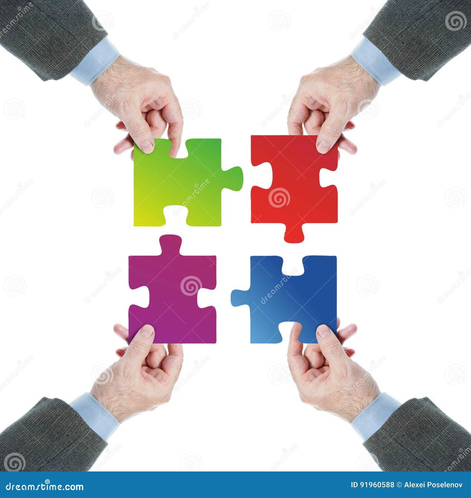 配合 一个队的被协调的工作往一个共同目标的