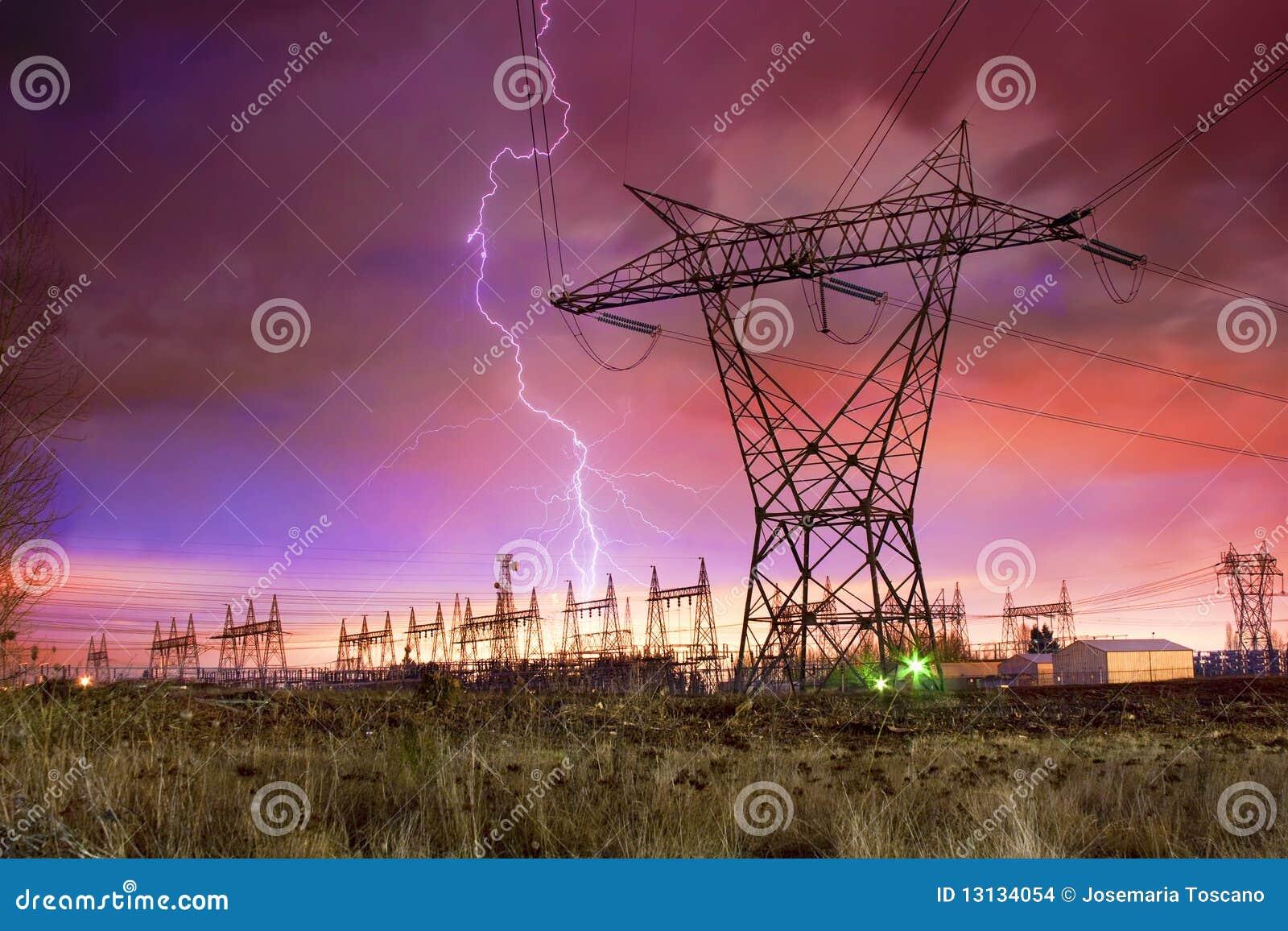 配电器闪电发电站罢工