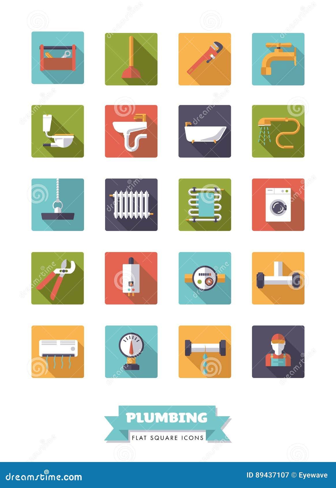 配管和卫生间设备平的设计象集合