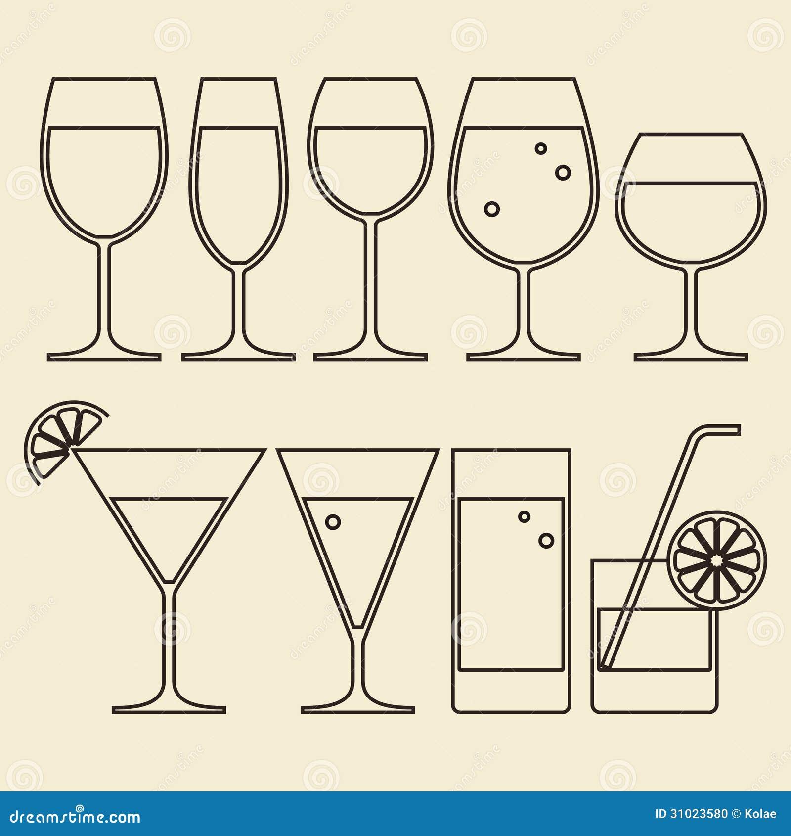 酒精、酒、啤酒、鸡尾酒和水玻璃