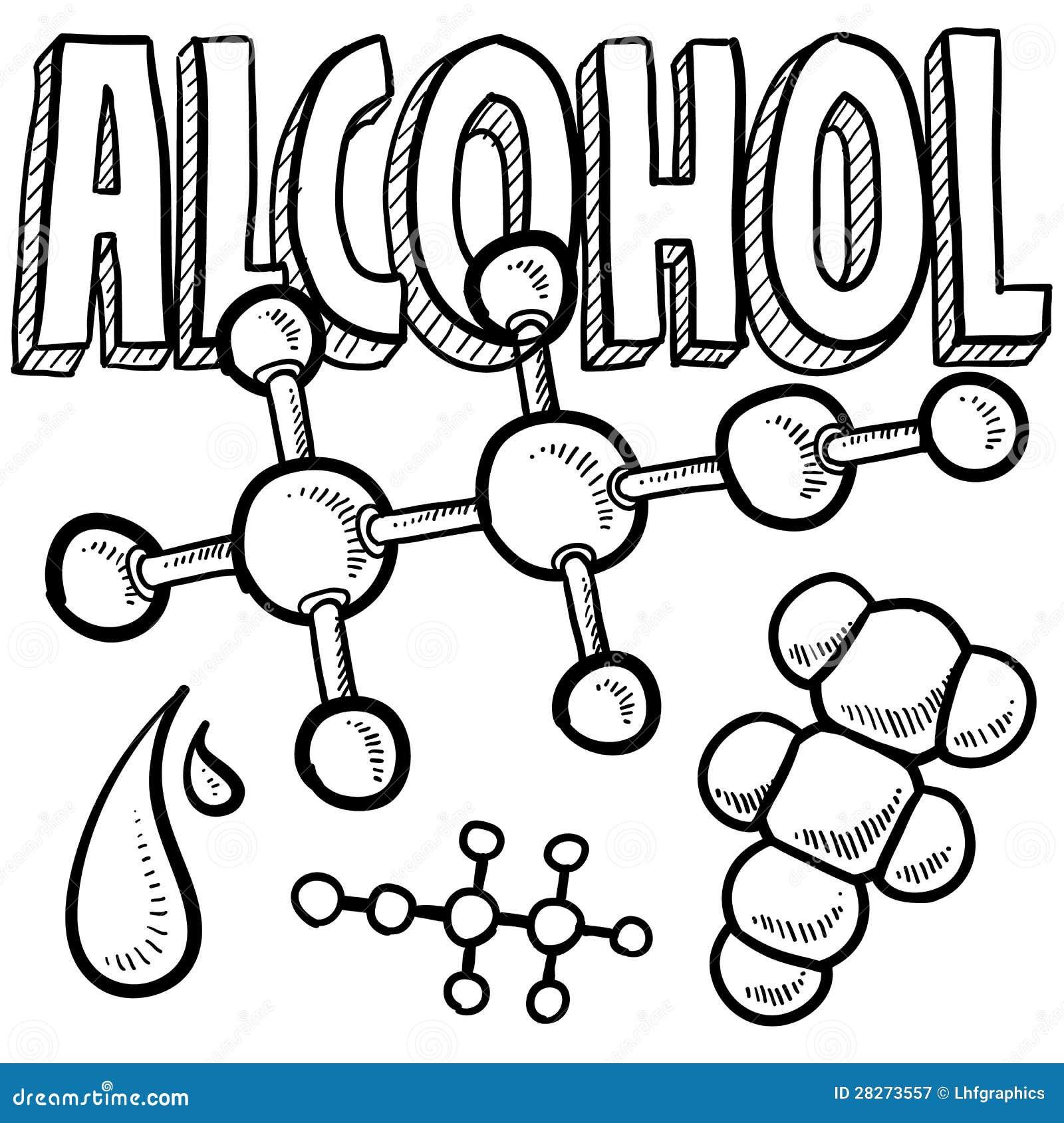 酒精分子科学草图