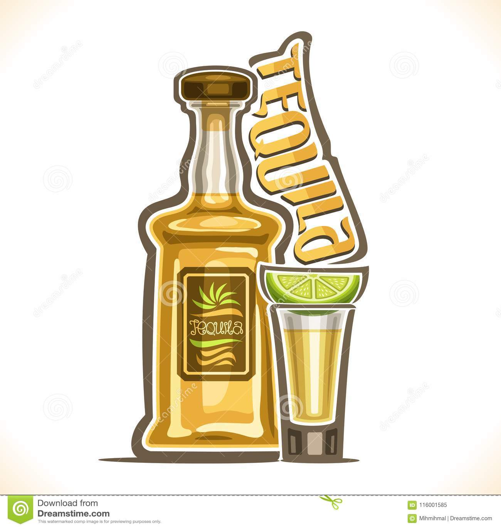 酒精饮料龙舌兰酒的传染媒介例证