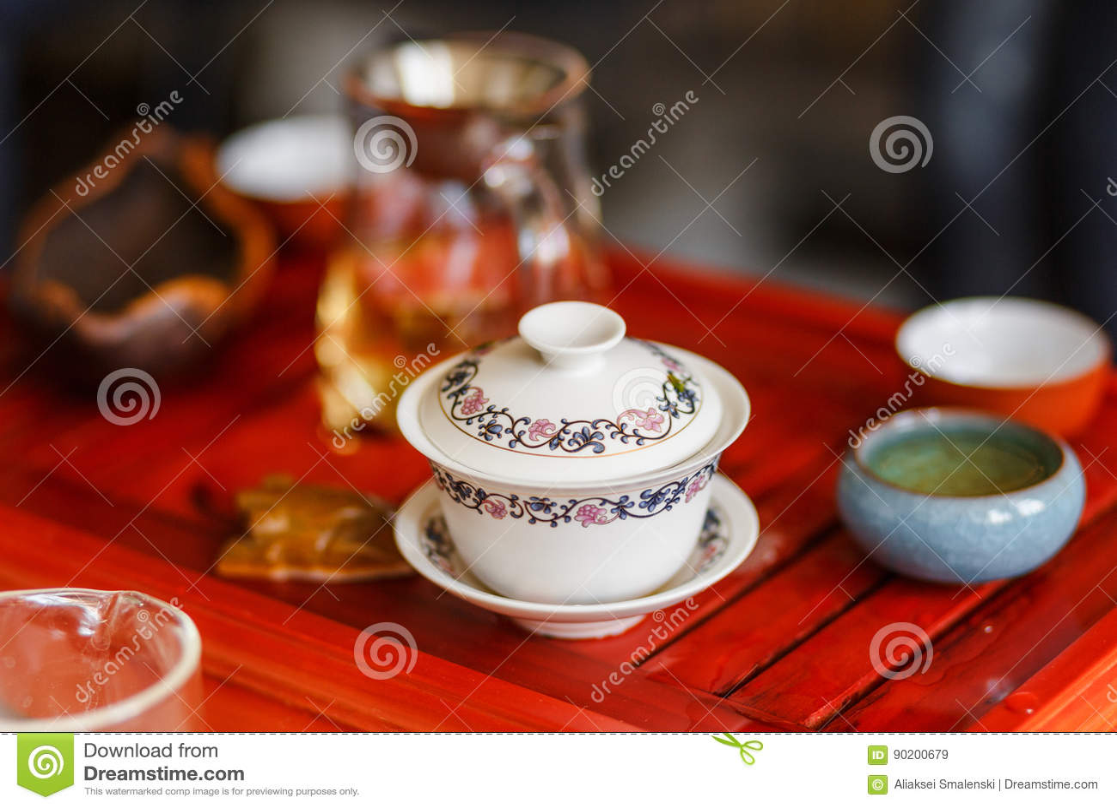 酿造在茶道的茶的过程