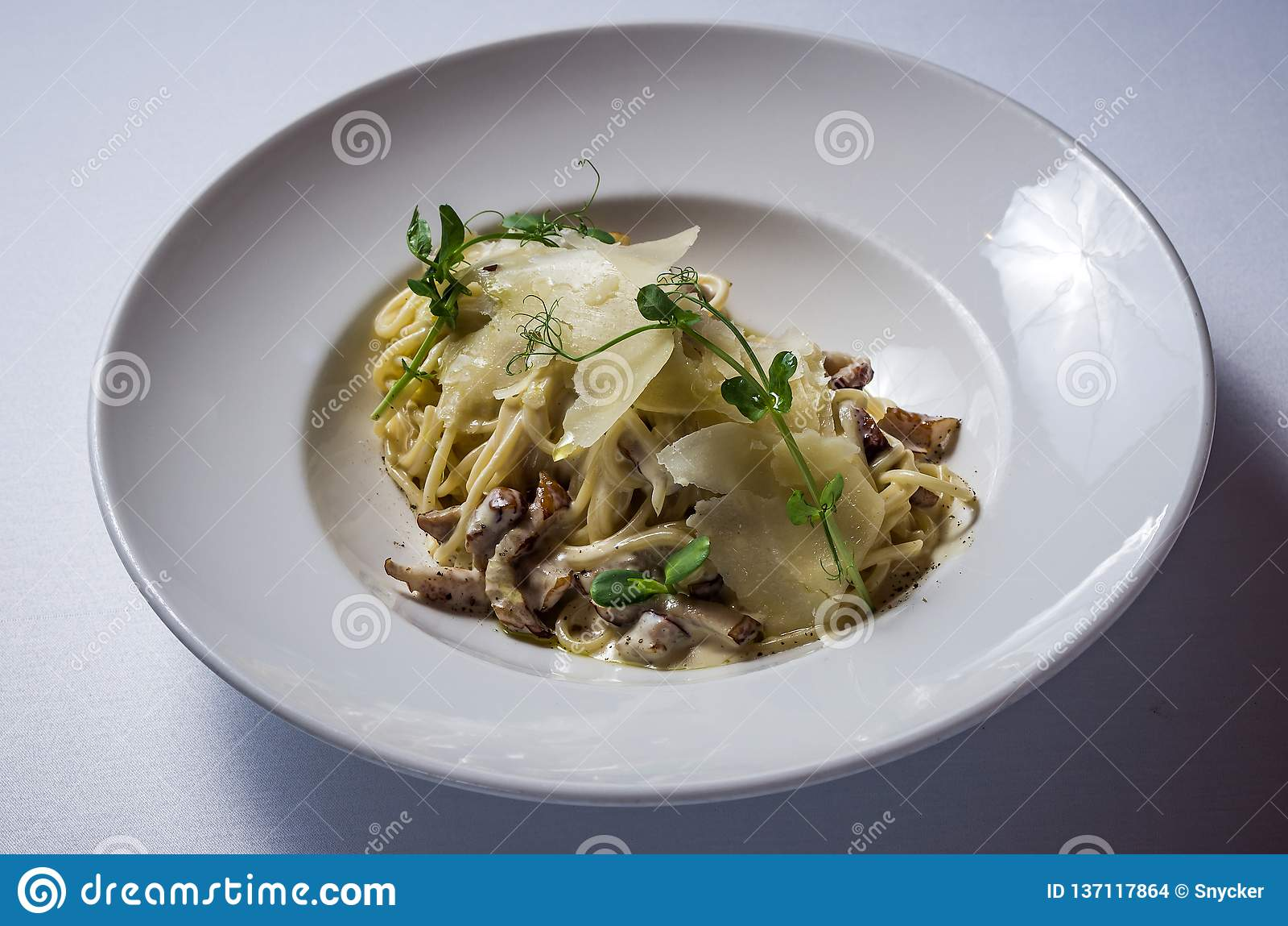 采蘑菇porcini意大利煨饭