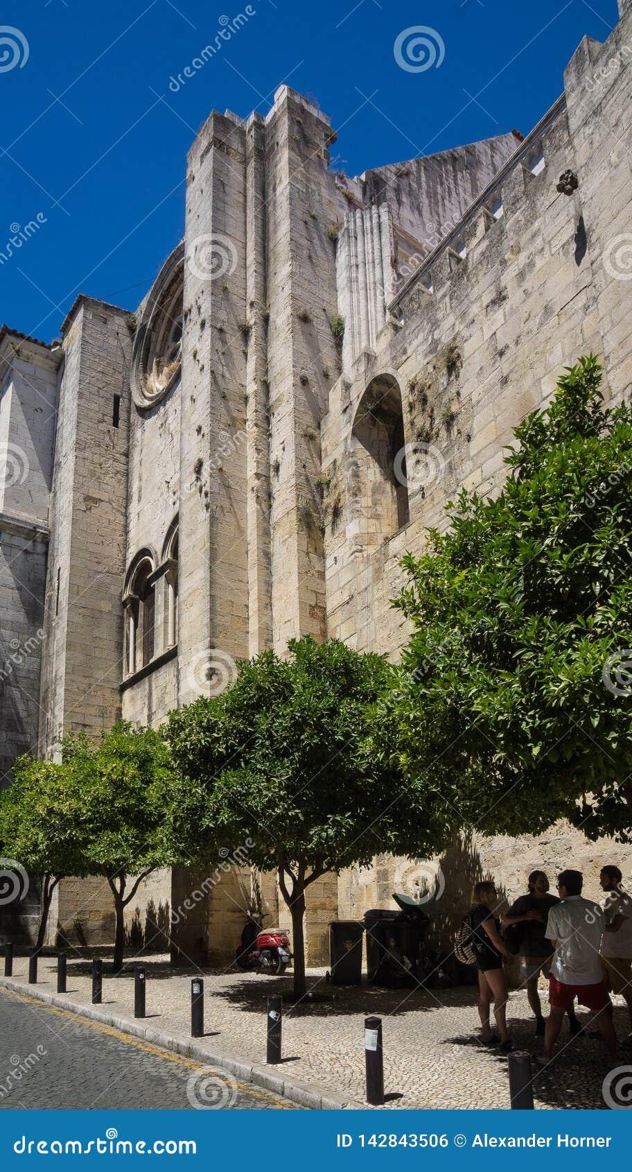 里斯本大教堂门面