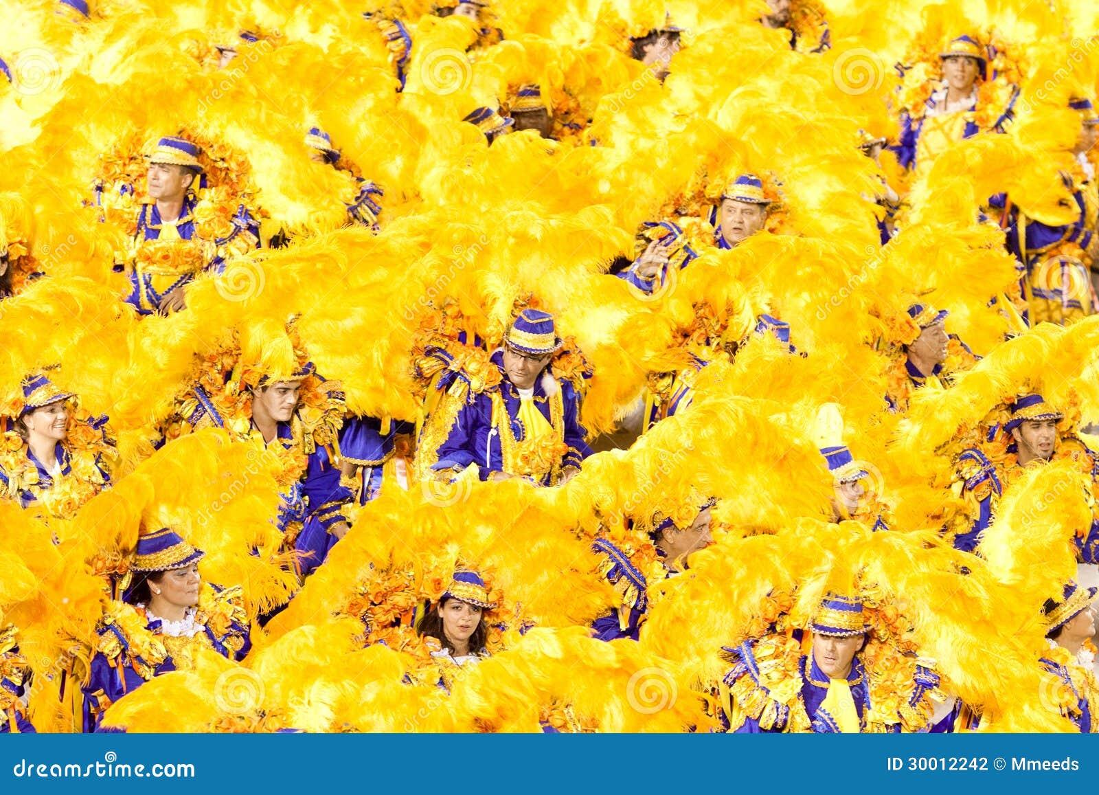 里约热内卢- 2月11 : 服装的舞蹈家在狂欢节在
