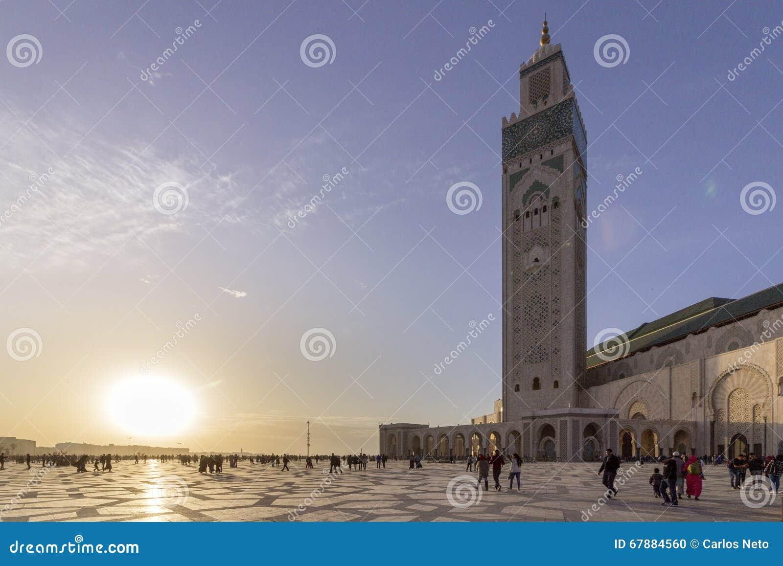 重创的Mosquée哈桑二世在卡萨布兰卡