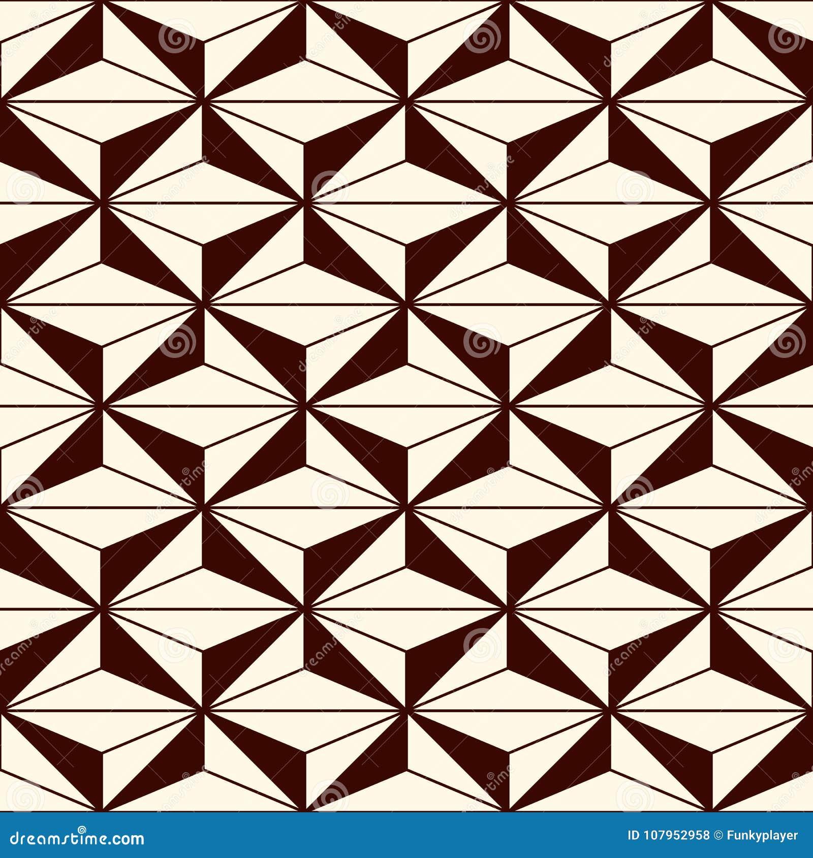 重复的图背景 几何形状 与多角形的无缝的样式 当代抽象印刷品