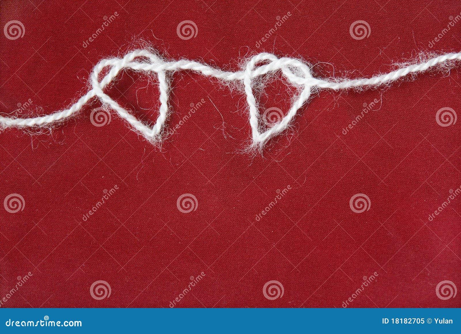 重点编织的形状二纱线