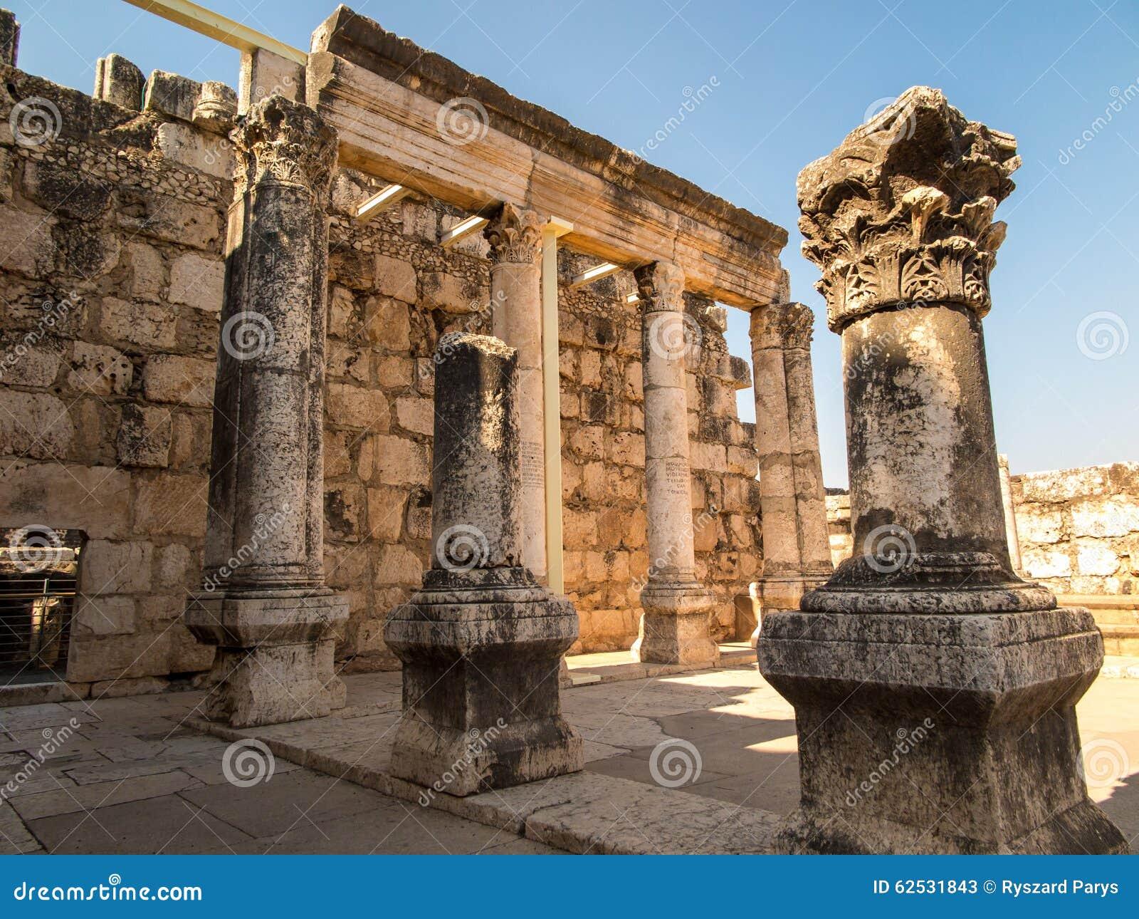 重建白色犹太教堂在Kafarnaum
