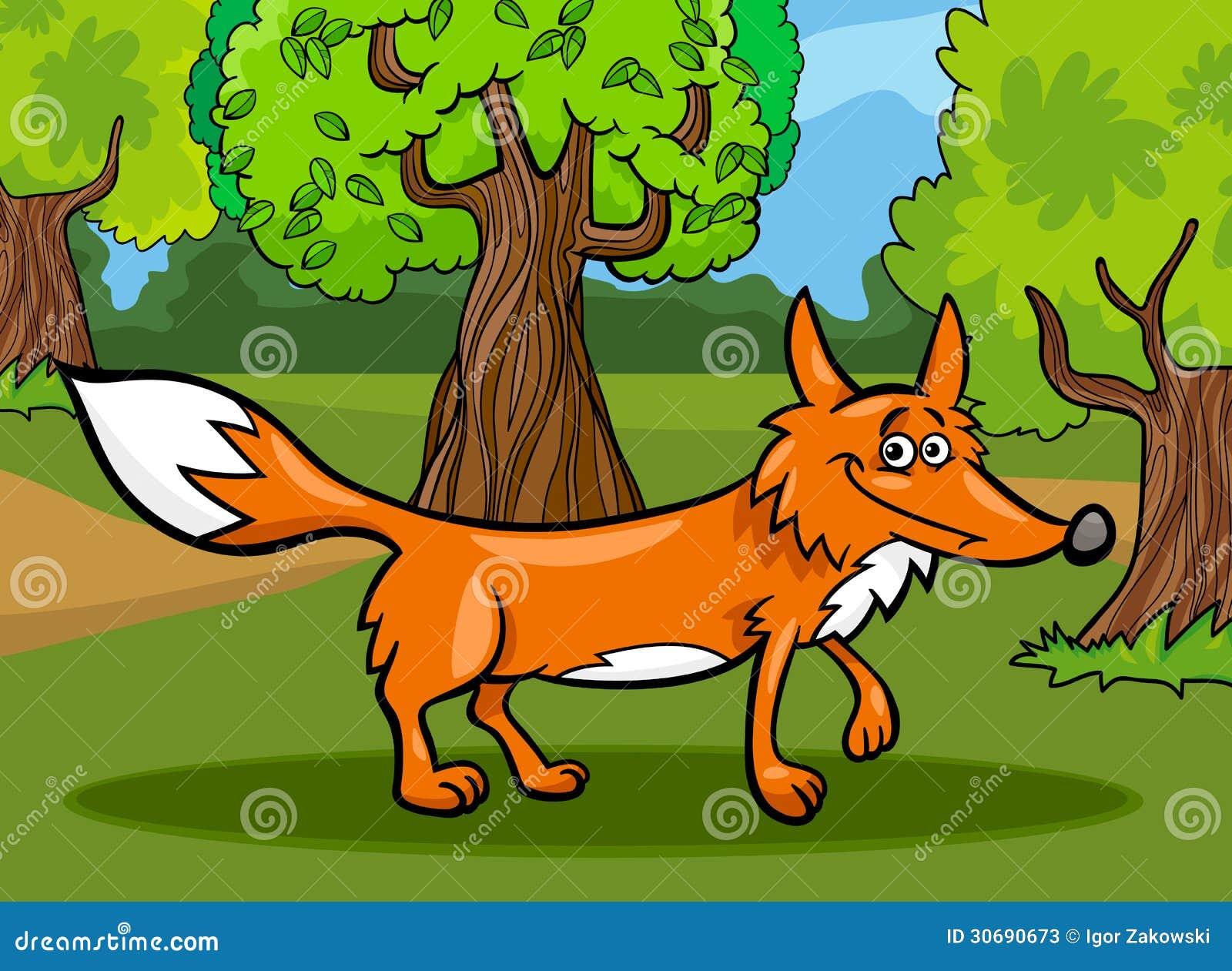 野生狐狸动物动画片例证