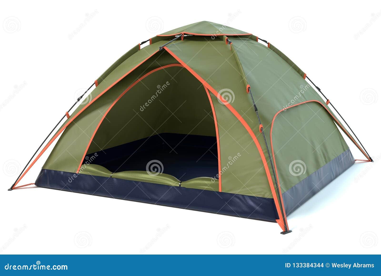 野营的绿色帐篷