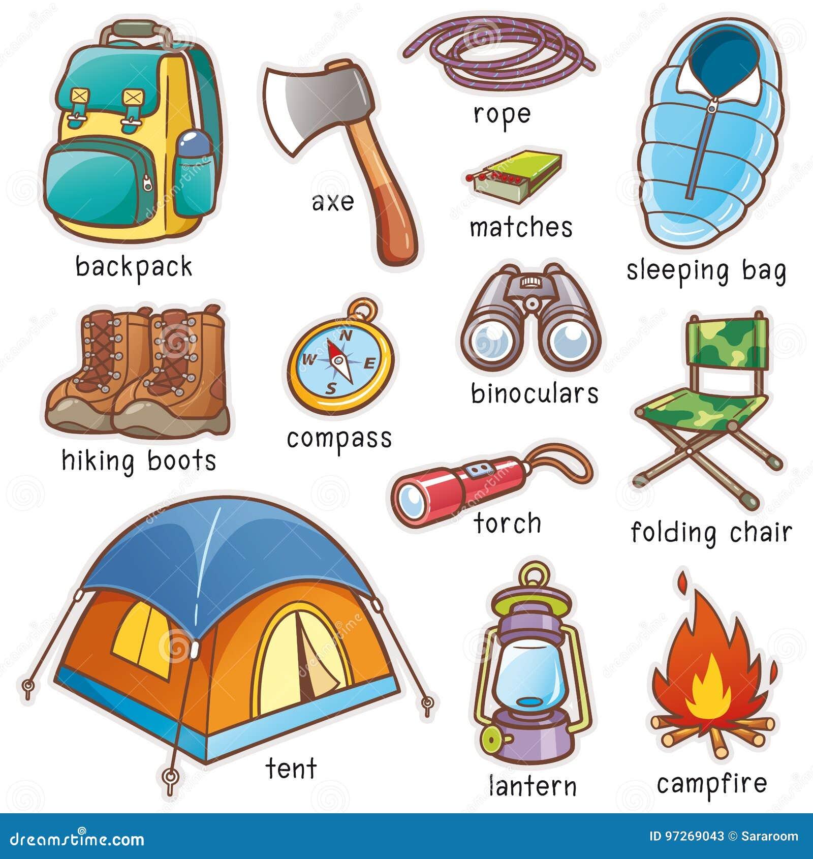 野营的设备