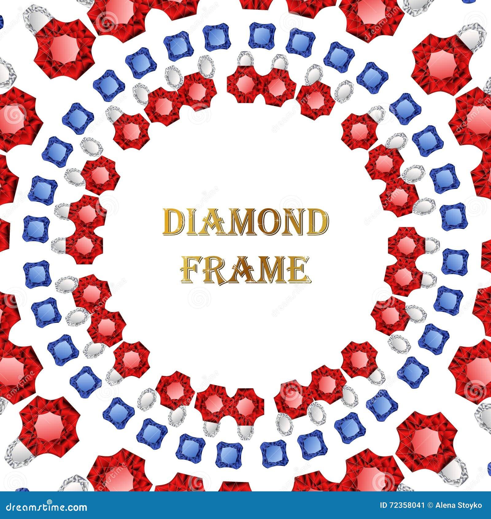 金刚石圆的框架