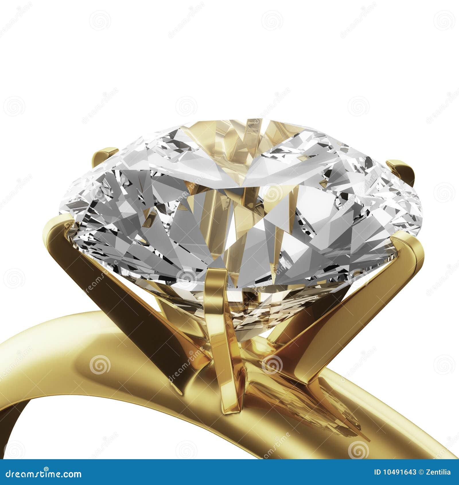 金刚石金戒指