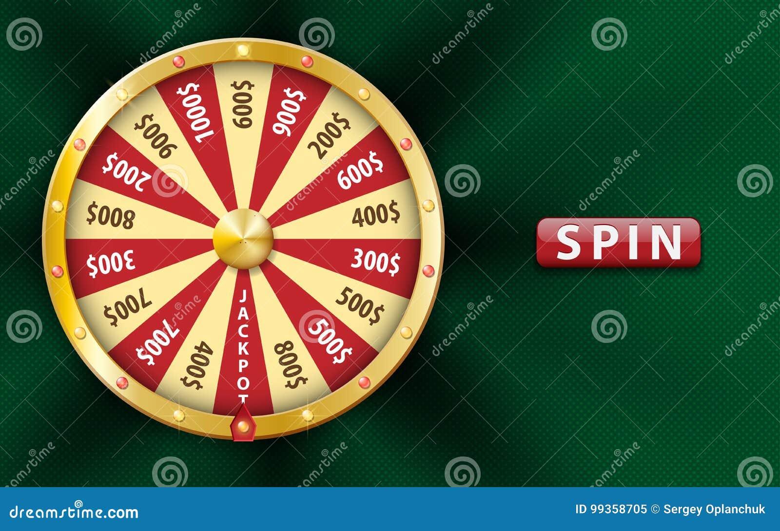 金子现实3d时运轮子,幸运的比赛旋转,在绿色背景的豪华轮盘赌 金钱的赌博娱乐场背景