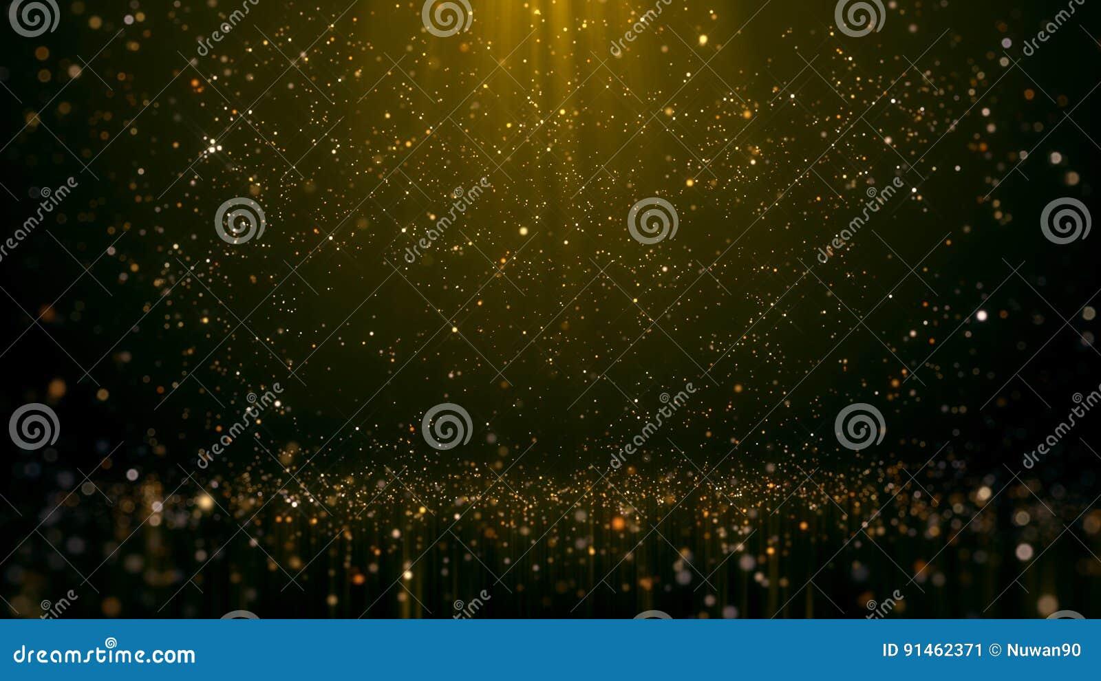 金子闪烁的Bokeh魅力摘要背景
