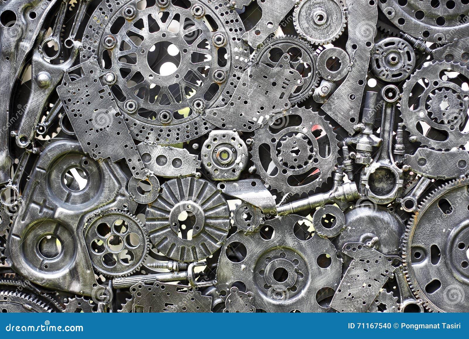 金属化齿轮,汽车,汽车, motocycle 工艺品从使用的备件的金属艺术品