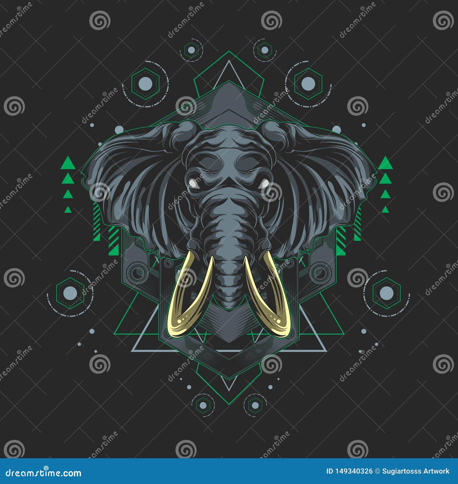金属大象神圣的几何