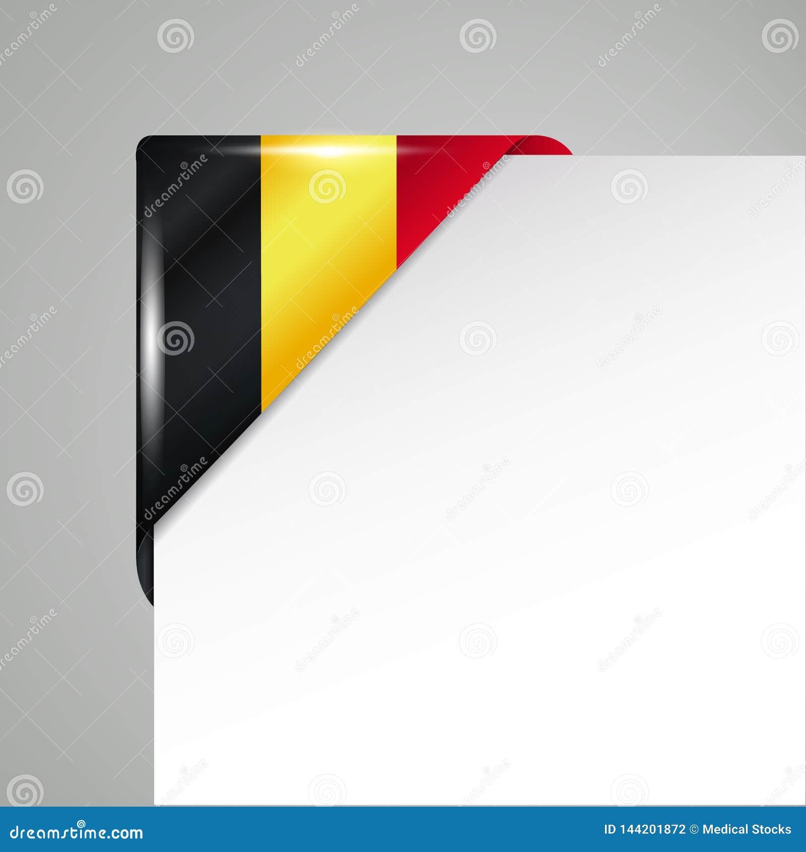 金属比利时旗子角落被隔绝的传染媒介例证