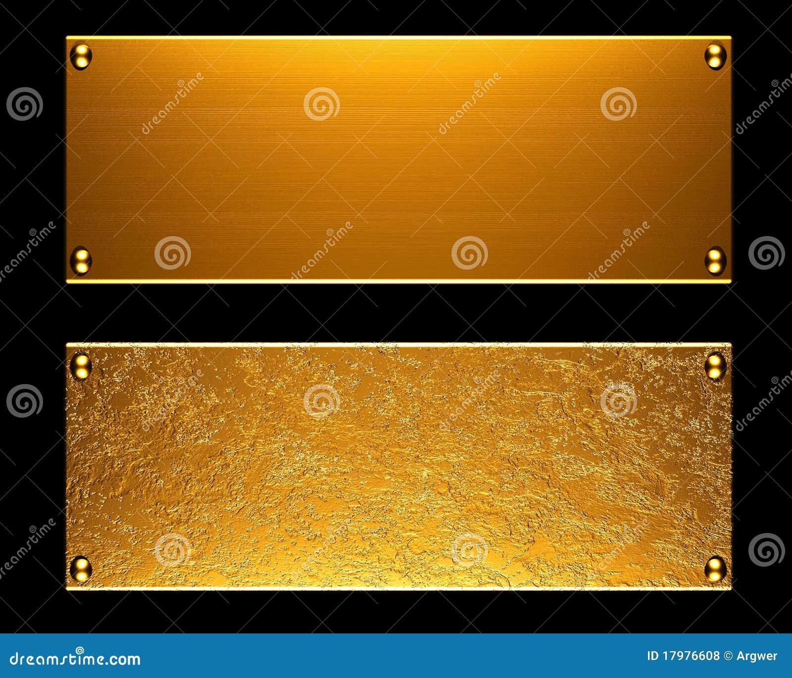 金属片背景的金子