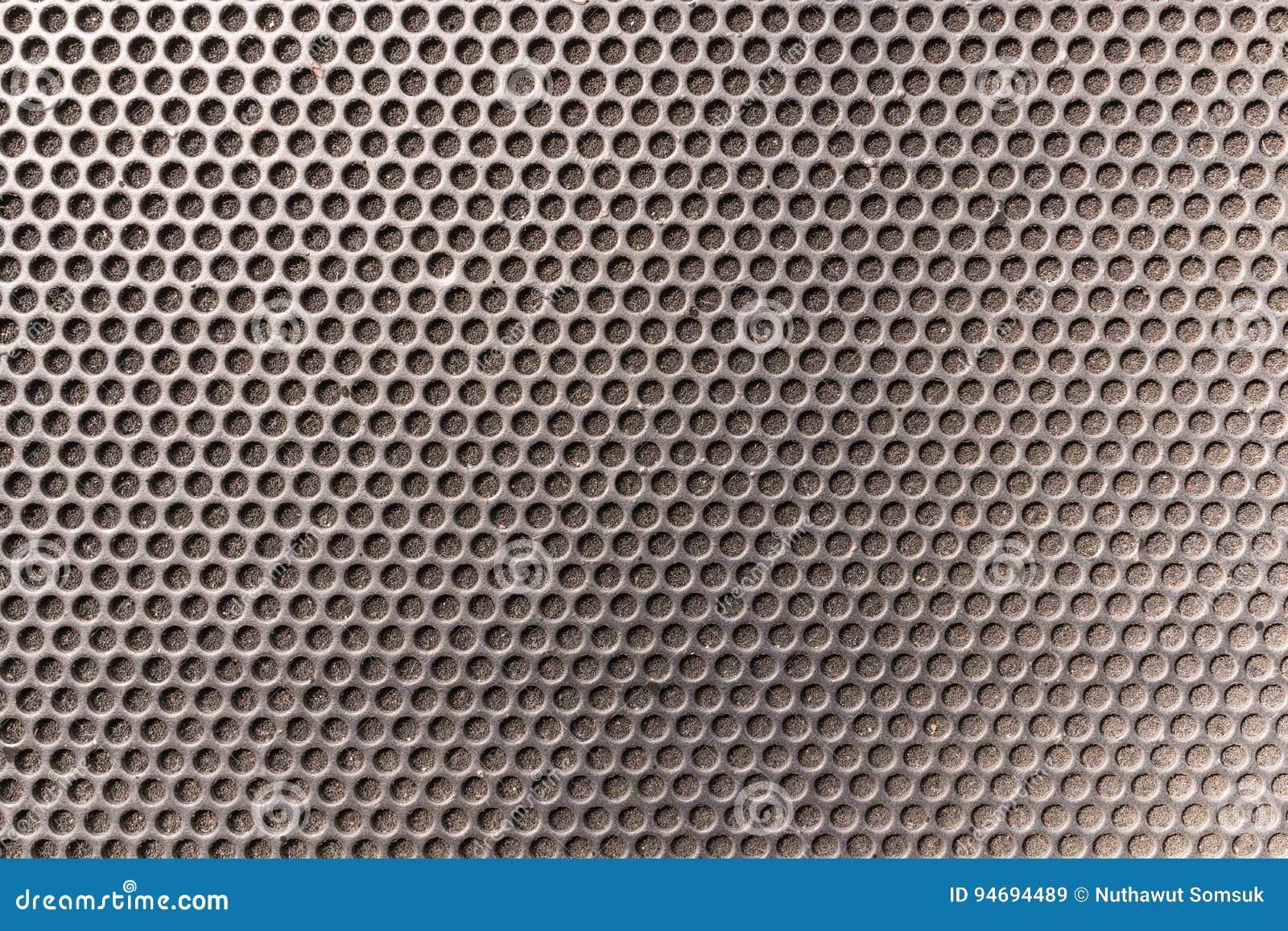 金属蜂窝六角形烤了在音乐spe前面的样式