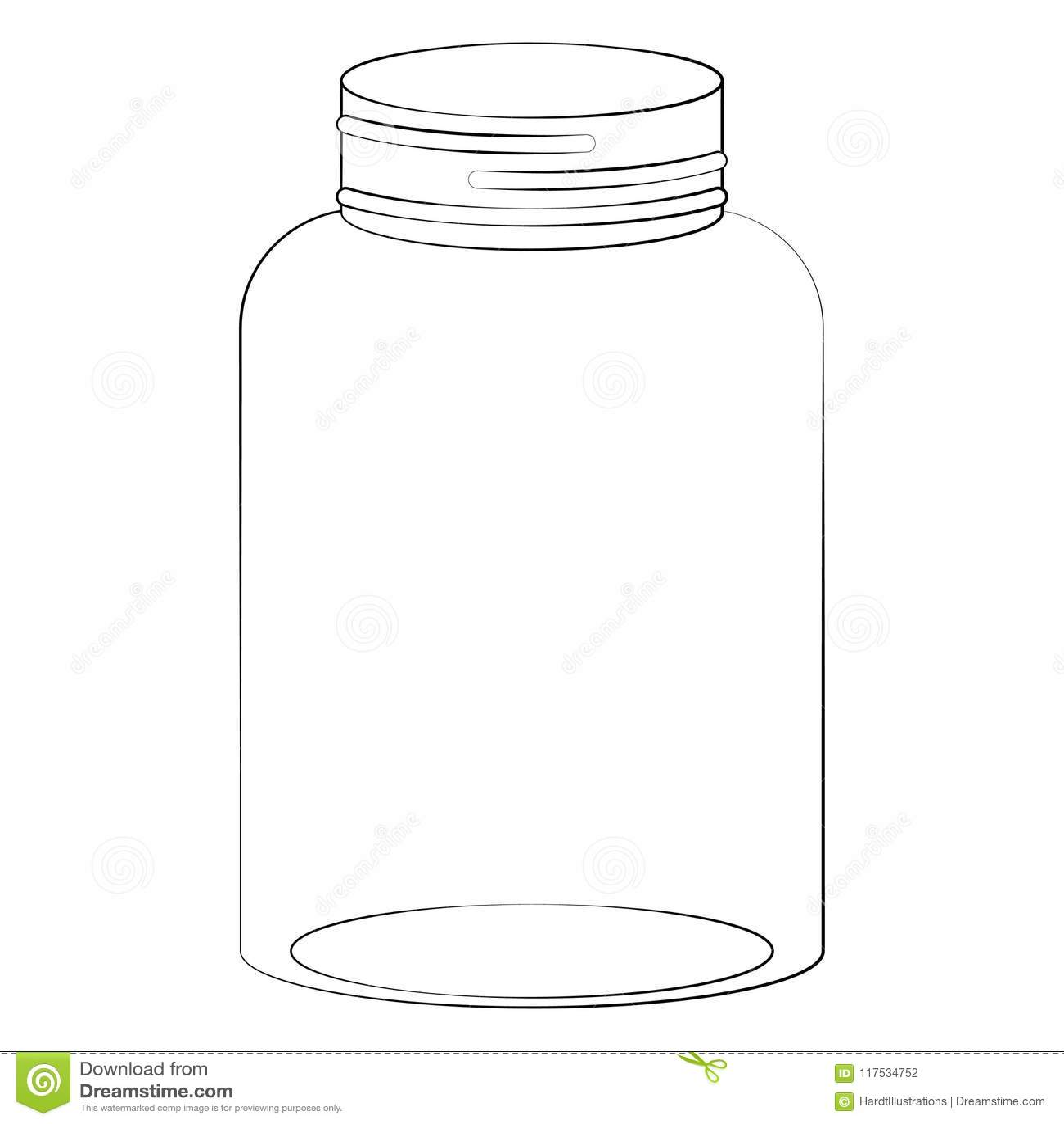 金属螺盖玻璃瓶例证