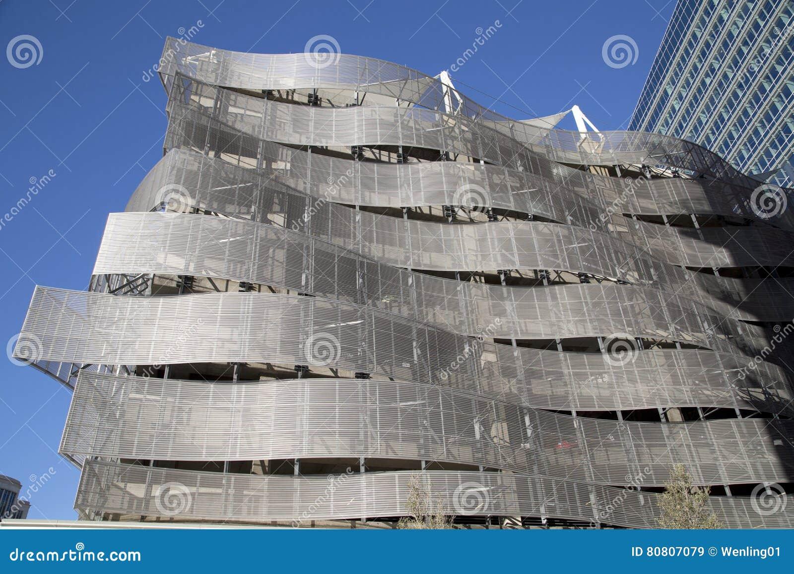 金属车库外部在城市