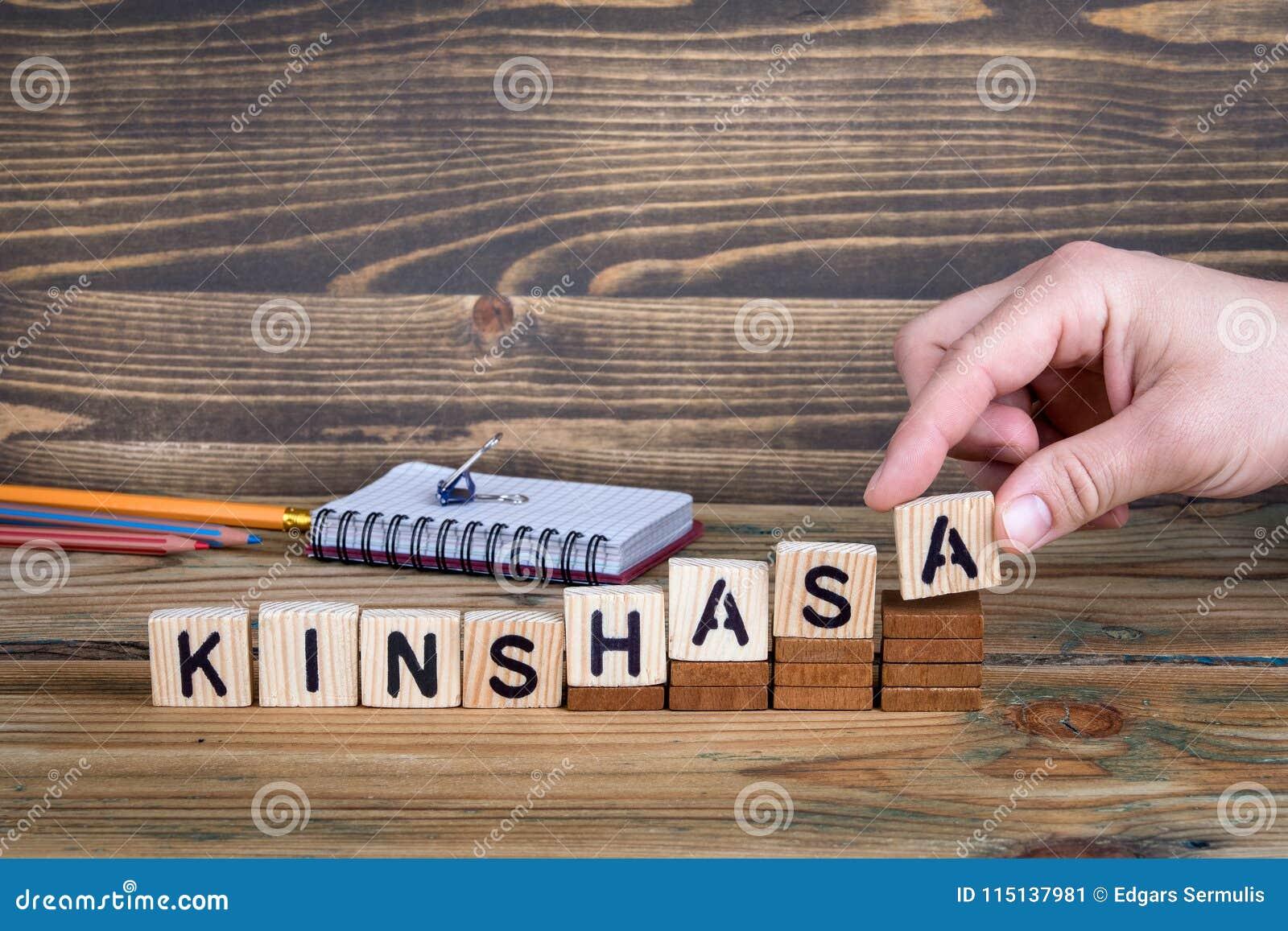 金沙萨,许多数百万人居住的一个城市在刚果民主共和国