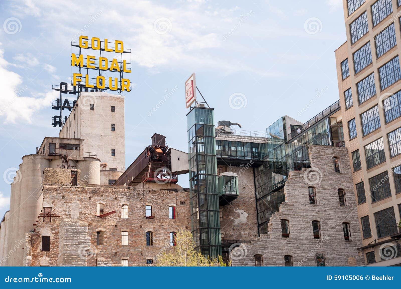 金牌花标志和磨房城市博物馆