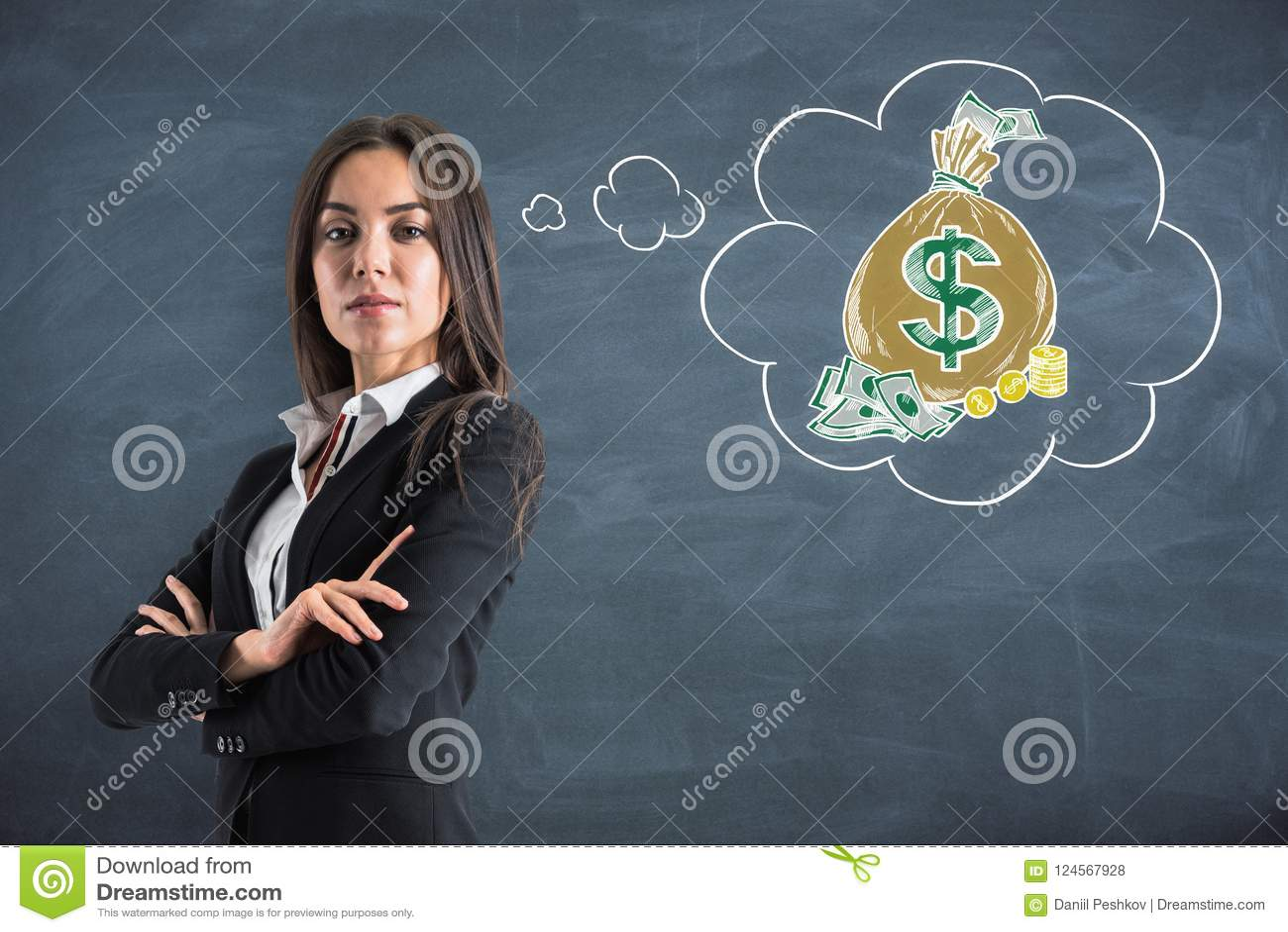 金钱和富有的概念