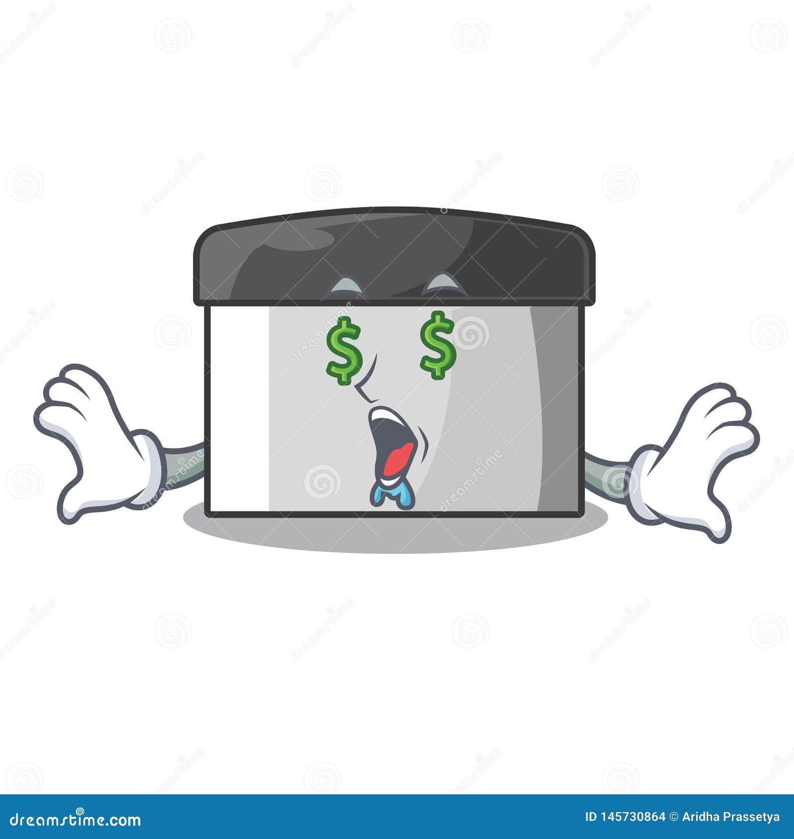 金钱眼睛在动画片形状的酥皮点心刮板