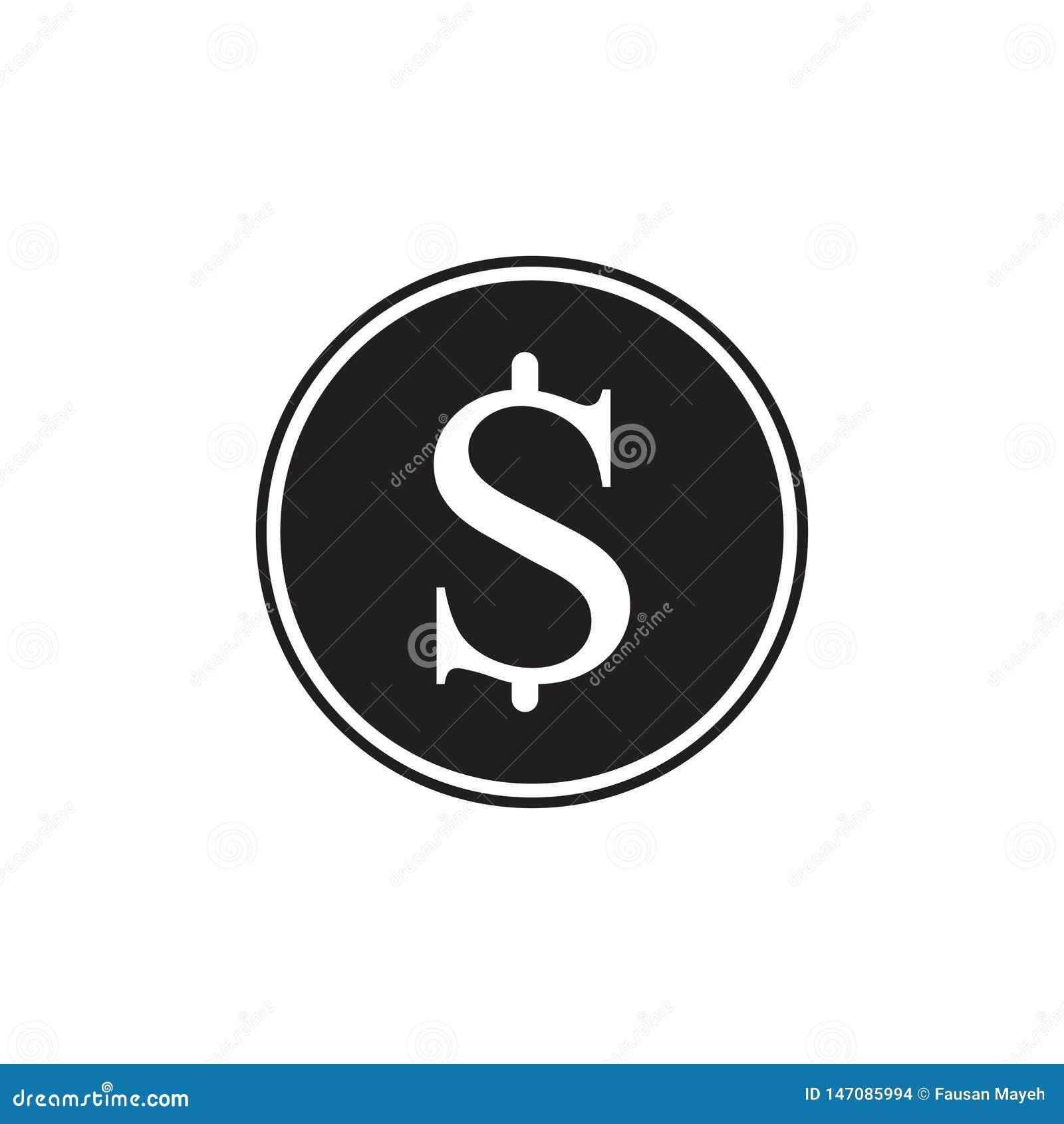 金钱象 在背景隔绝的黑美元现金 现代简单的平的标志 网站设计的平的dolar symboll,流动应用程序