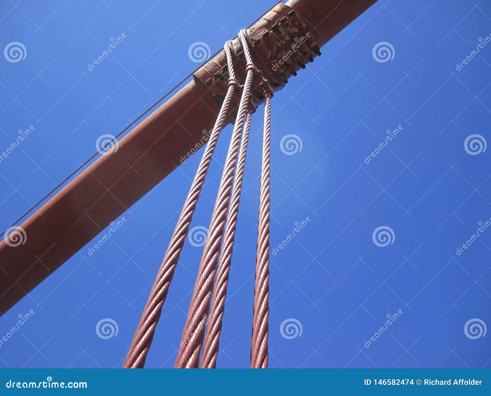金门海峡桥梁悬挂装置缆绳