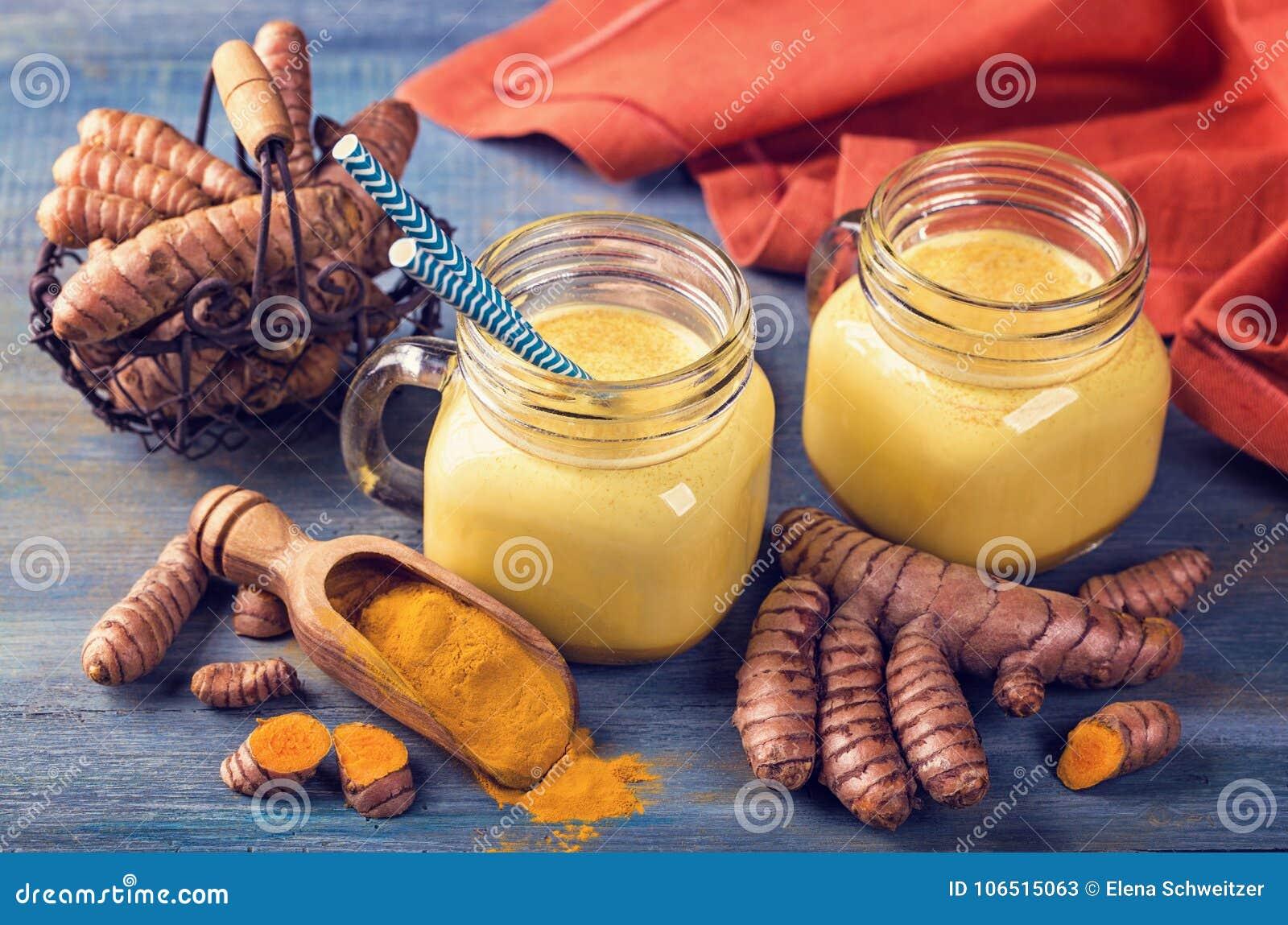 金黄牛奶用姜黄