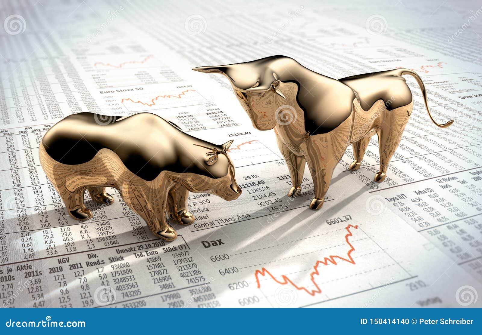 金黄牛市与熊市-概念股票市场