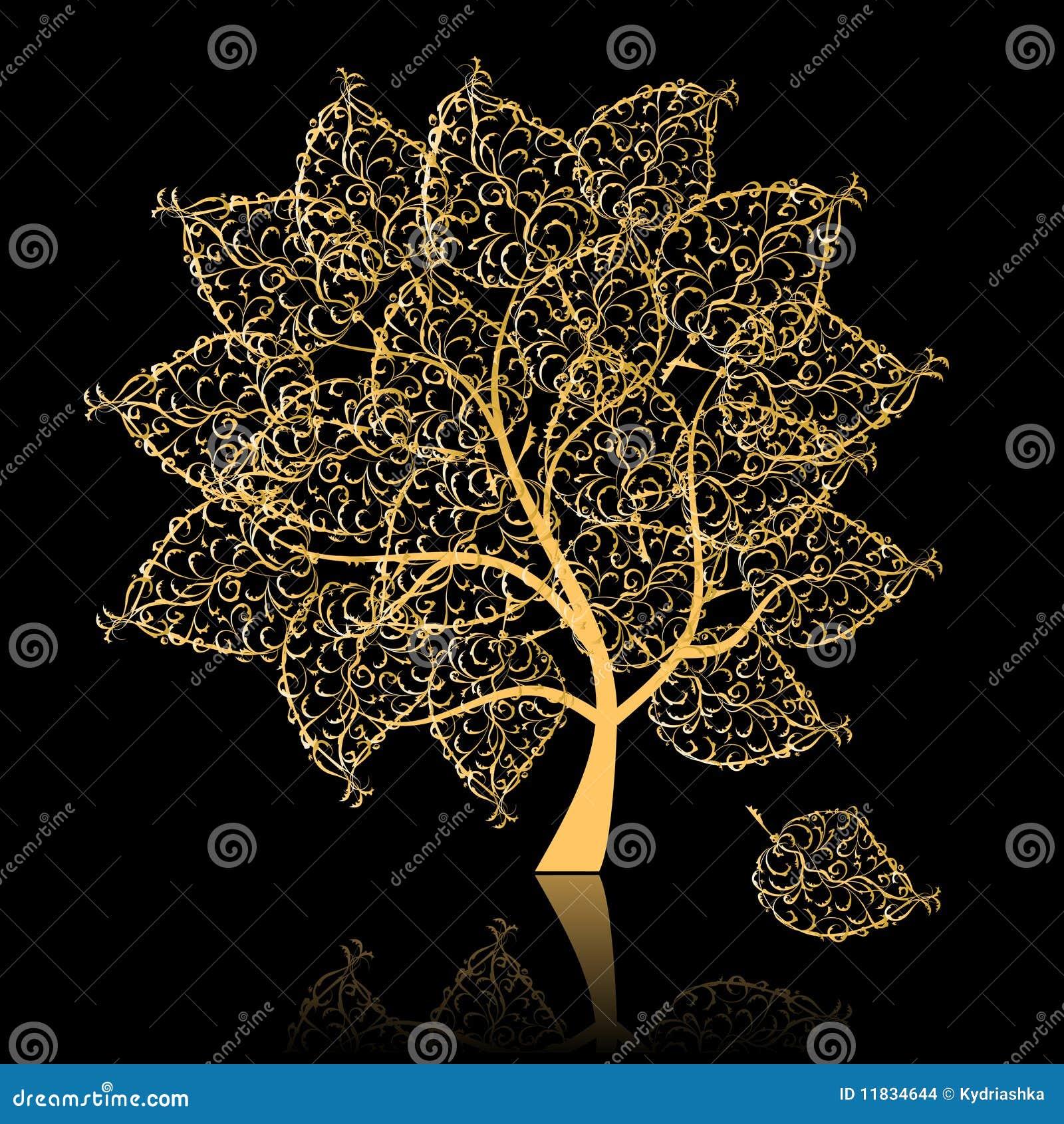 金黄结构树